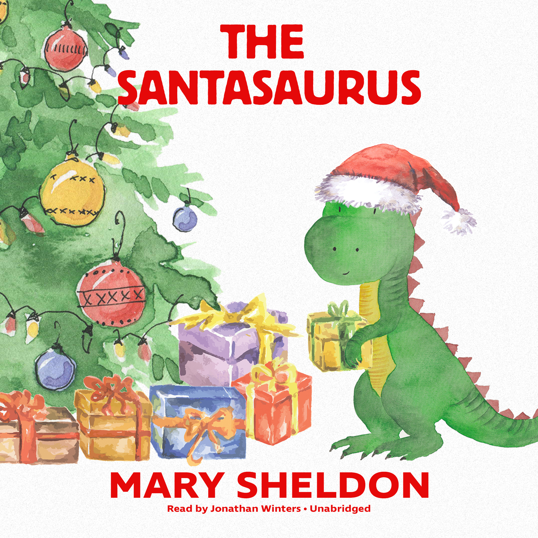 Printable The Santasaurus Audiobook Cover Art
