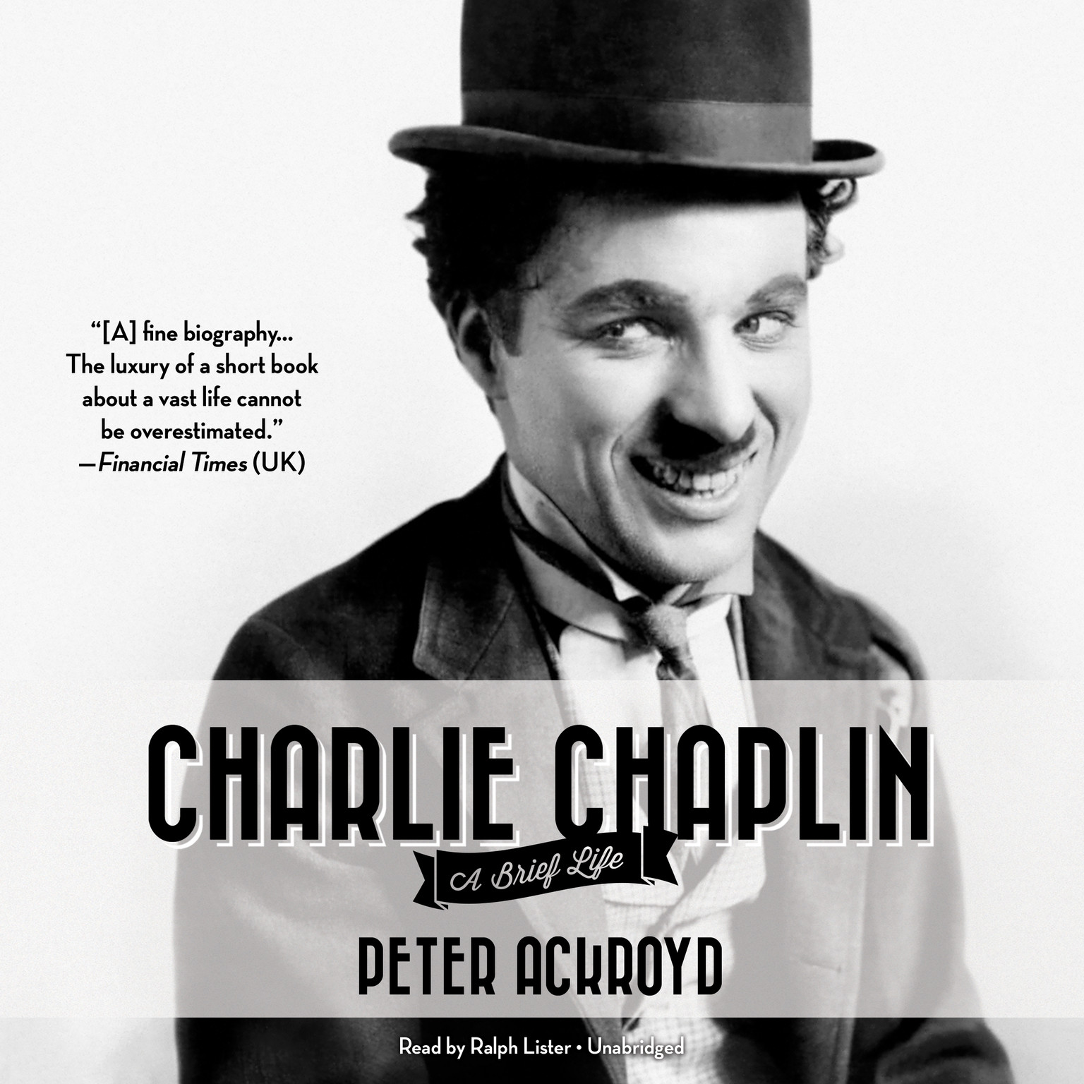 Printable Charlie Chaplin: A Brief Life Audiobook Cover Art