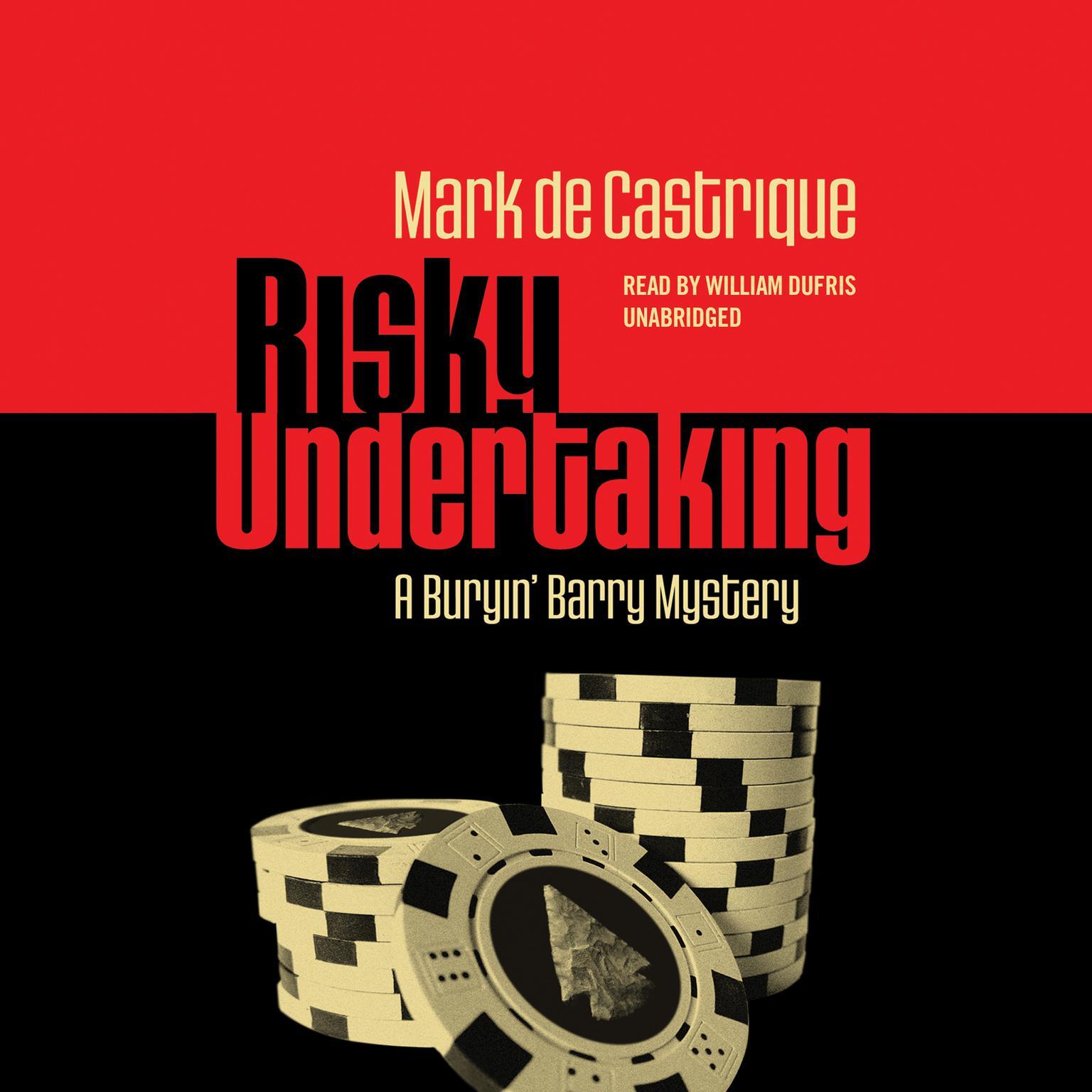Printable Risky Undertaking: A Buryin' Barry Mystery Audiobook Cover Art
