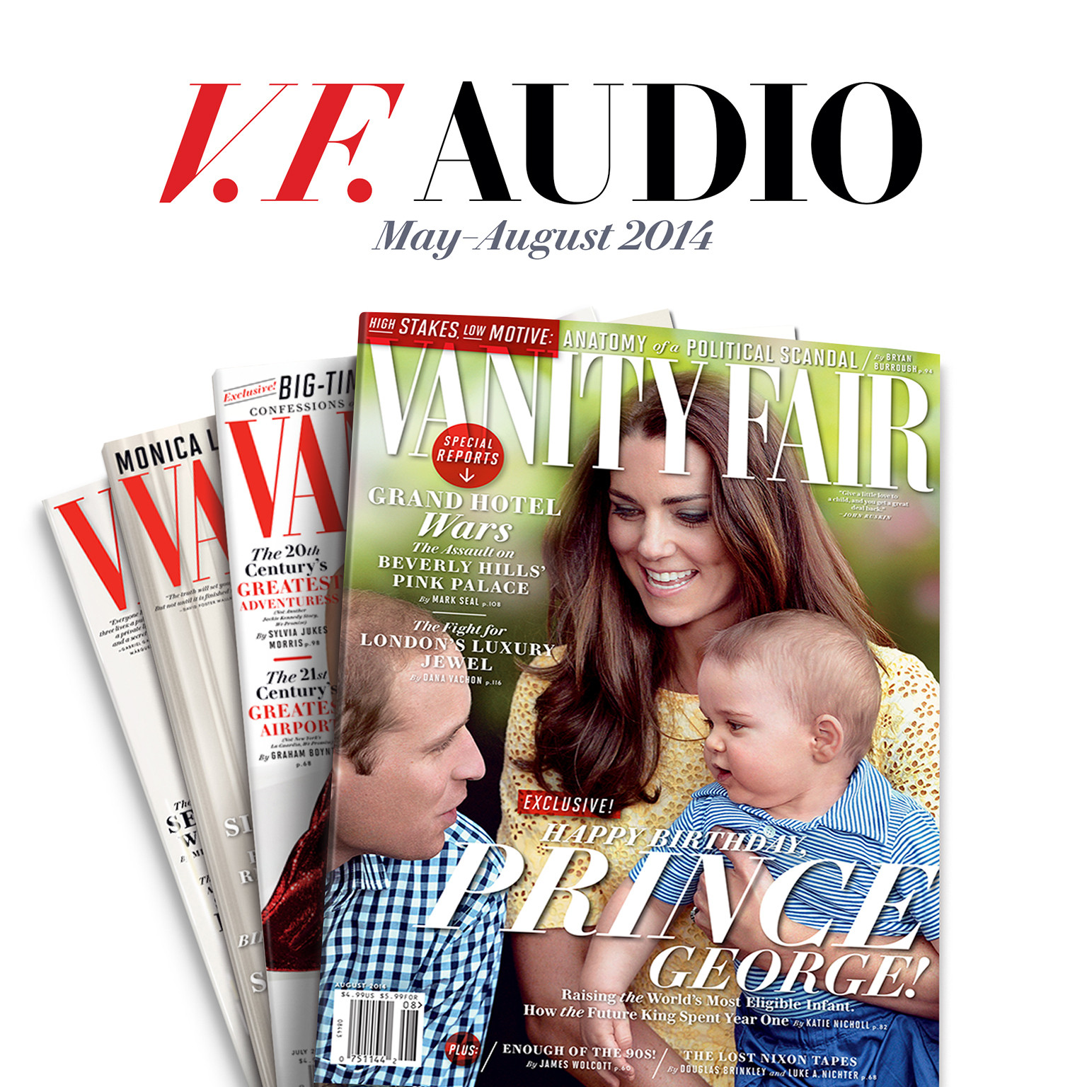 Printable Vanity Fair: May–August 2014 Issue Audiobook Cover Art