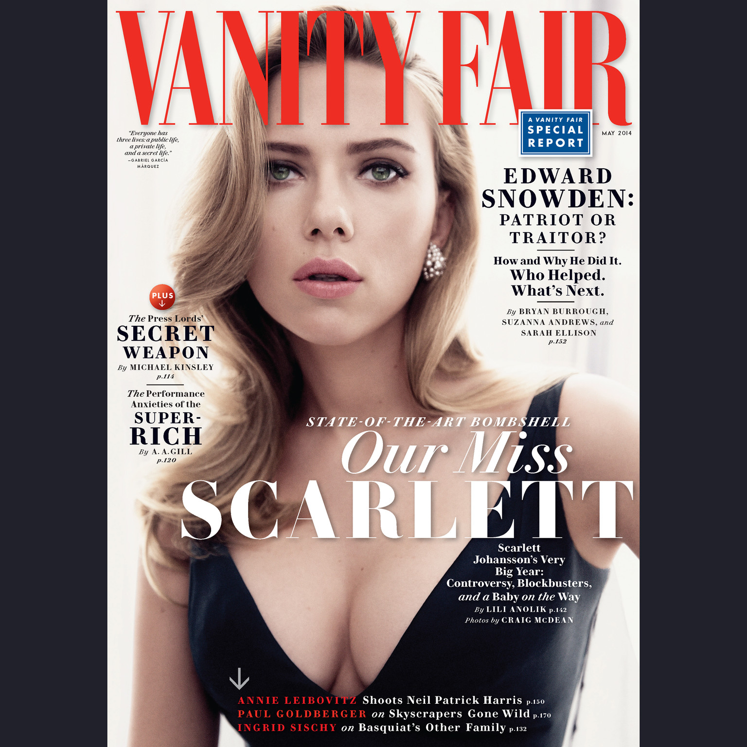 Printable Vanity Fair: May 2014 Issue Audiobook Cover Art