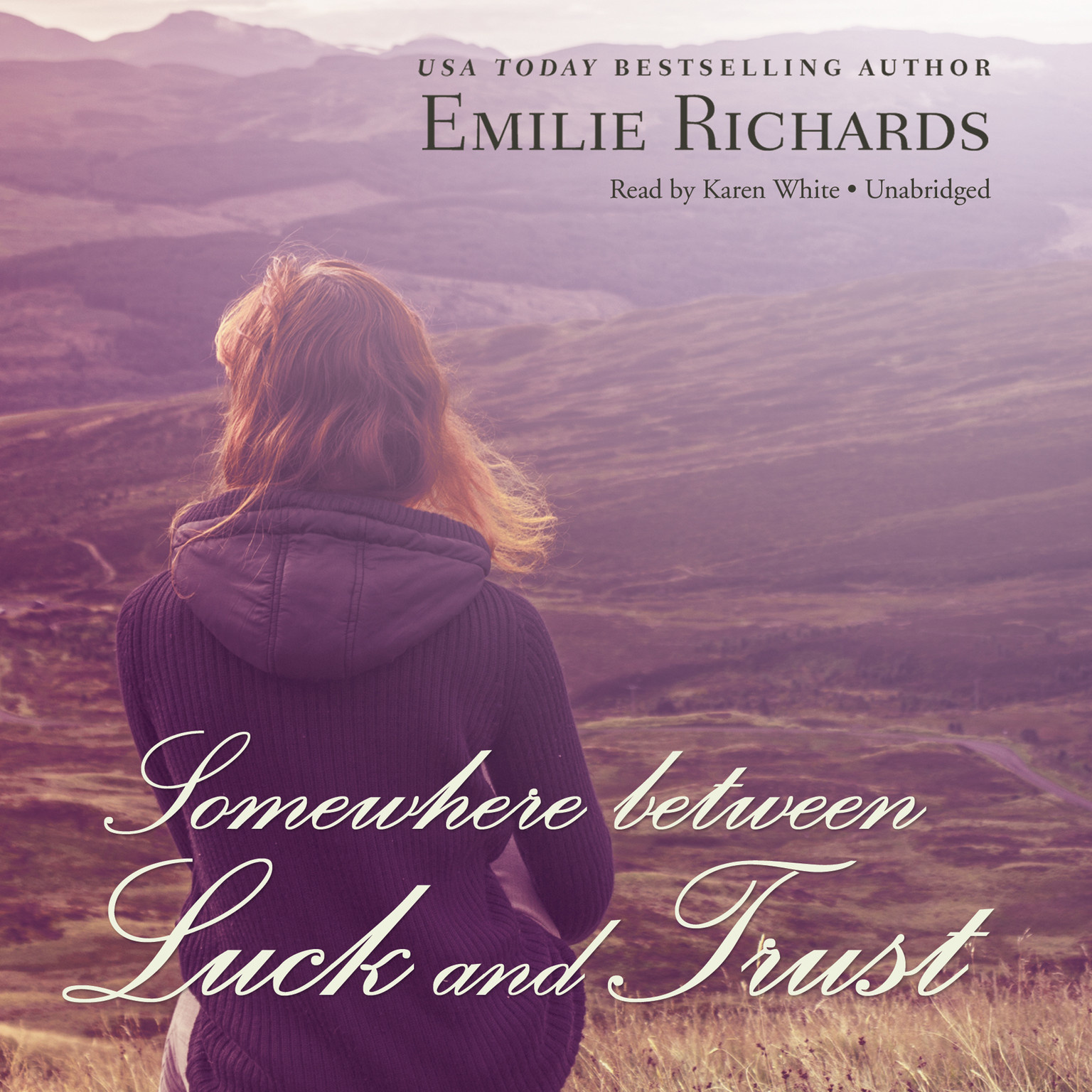 Printable Somewhere between Luck and Trust Audiobook Cover Art