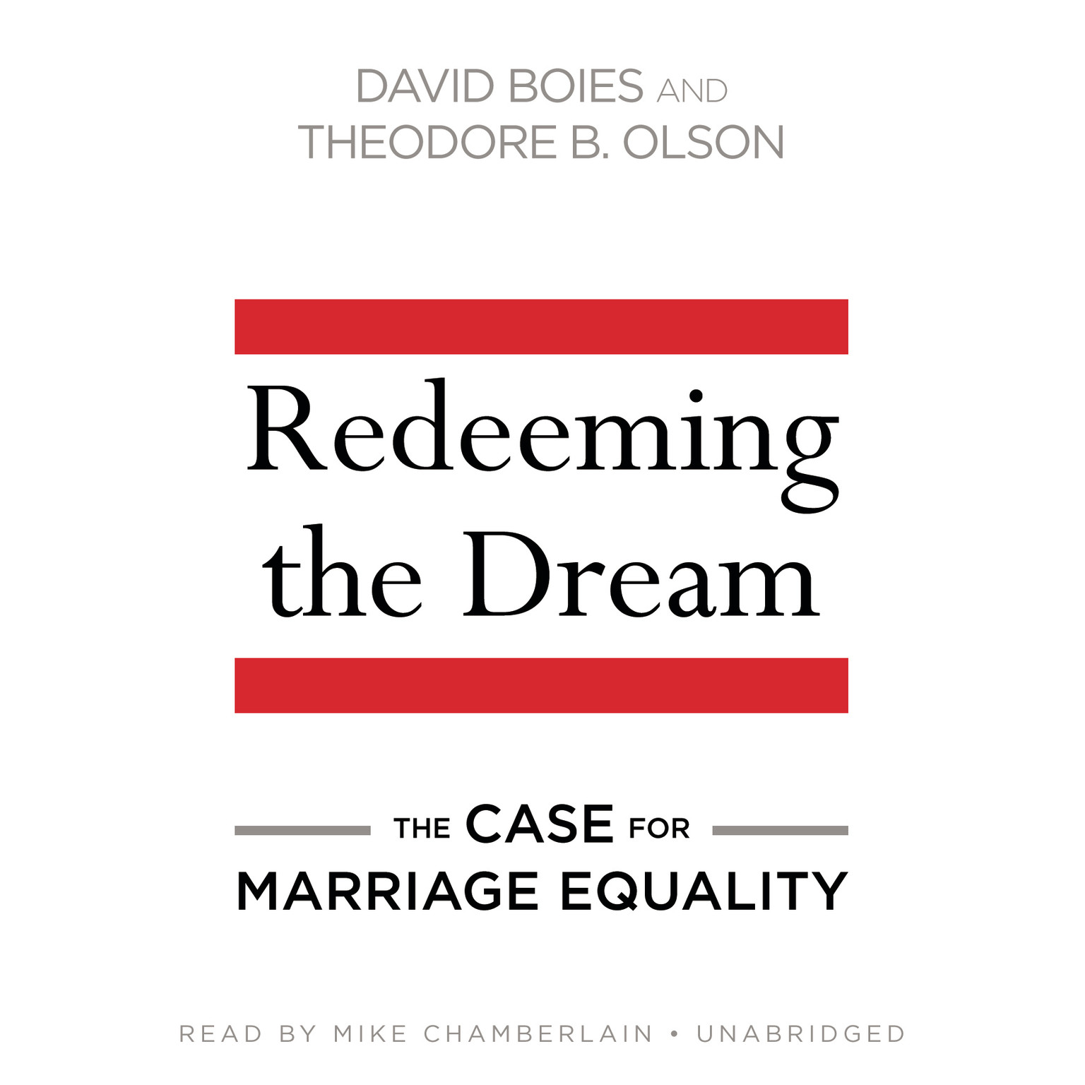 Printable Redeeming the Dream: The Case for Marriage Equality Audiobook Cover Art