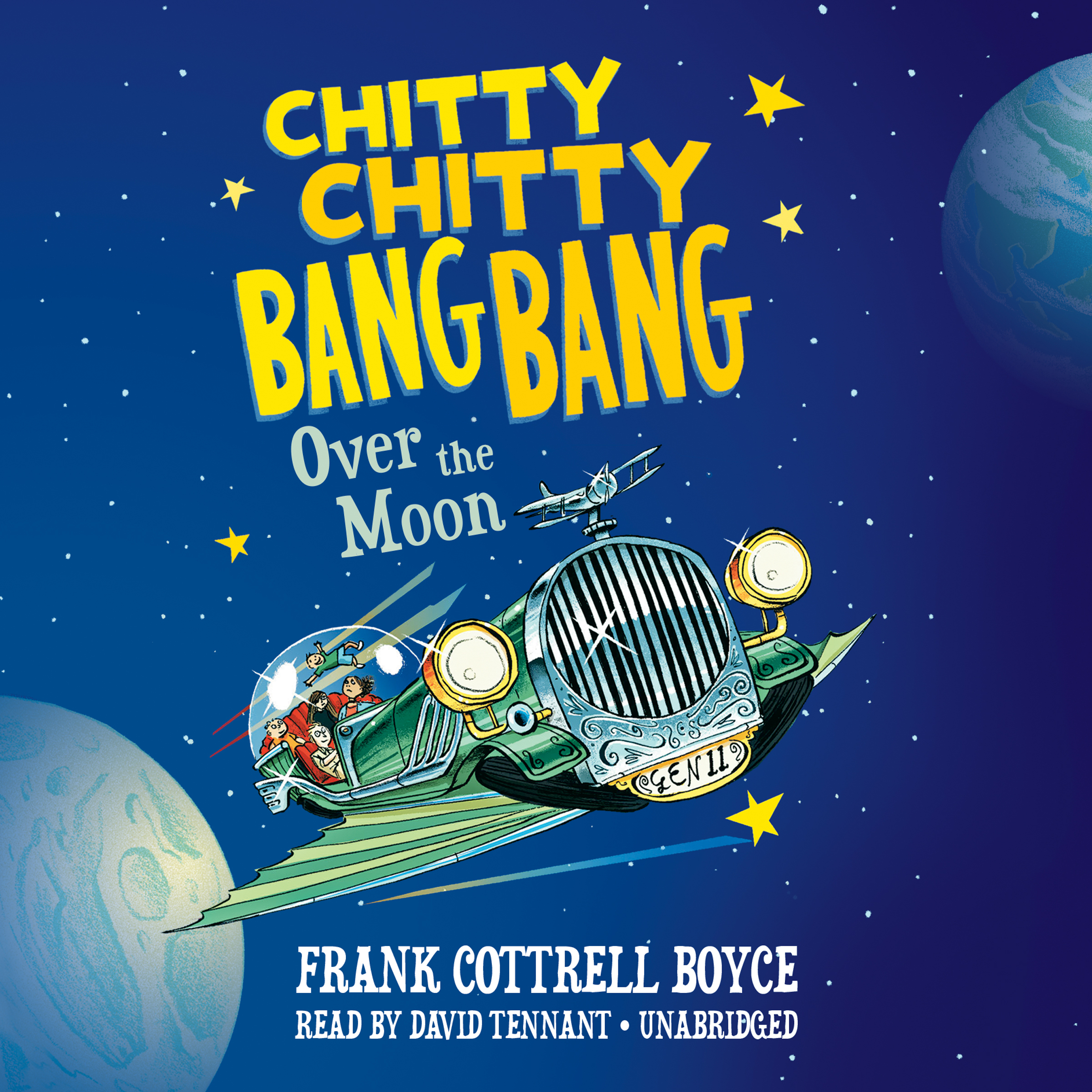 Printable Chitty Chitty Bang Bang over the Moon Audiobook Cover Art