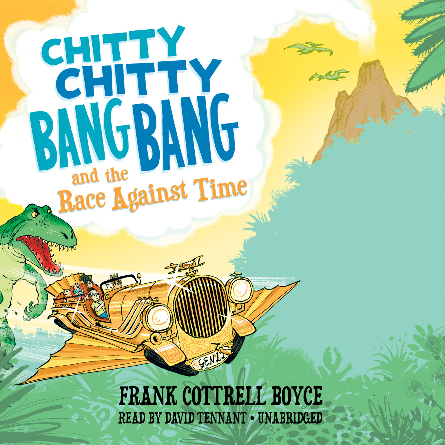 Printable Chitty Chitty Bang Bang and the Race against Time Audiobook Cover Art