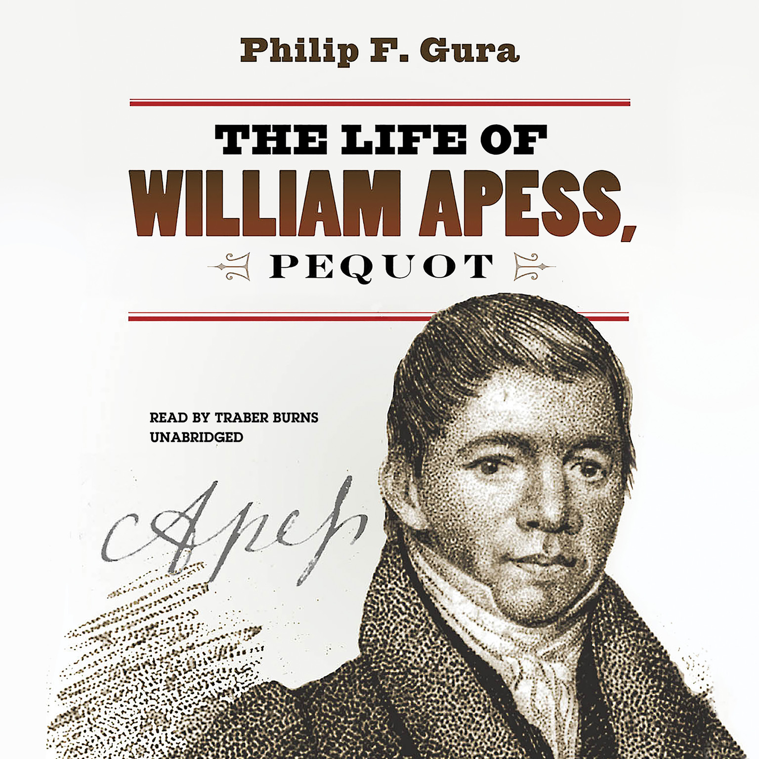 Printable The Life of William Apess, Pequot Audiobook Cover Art