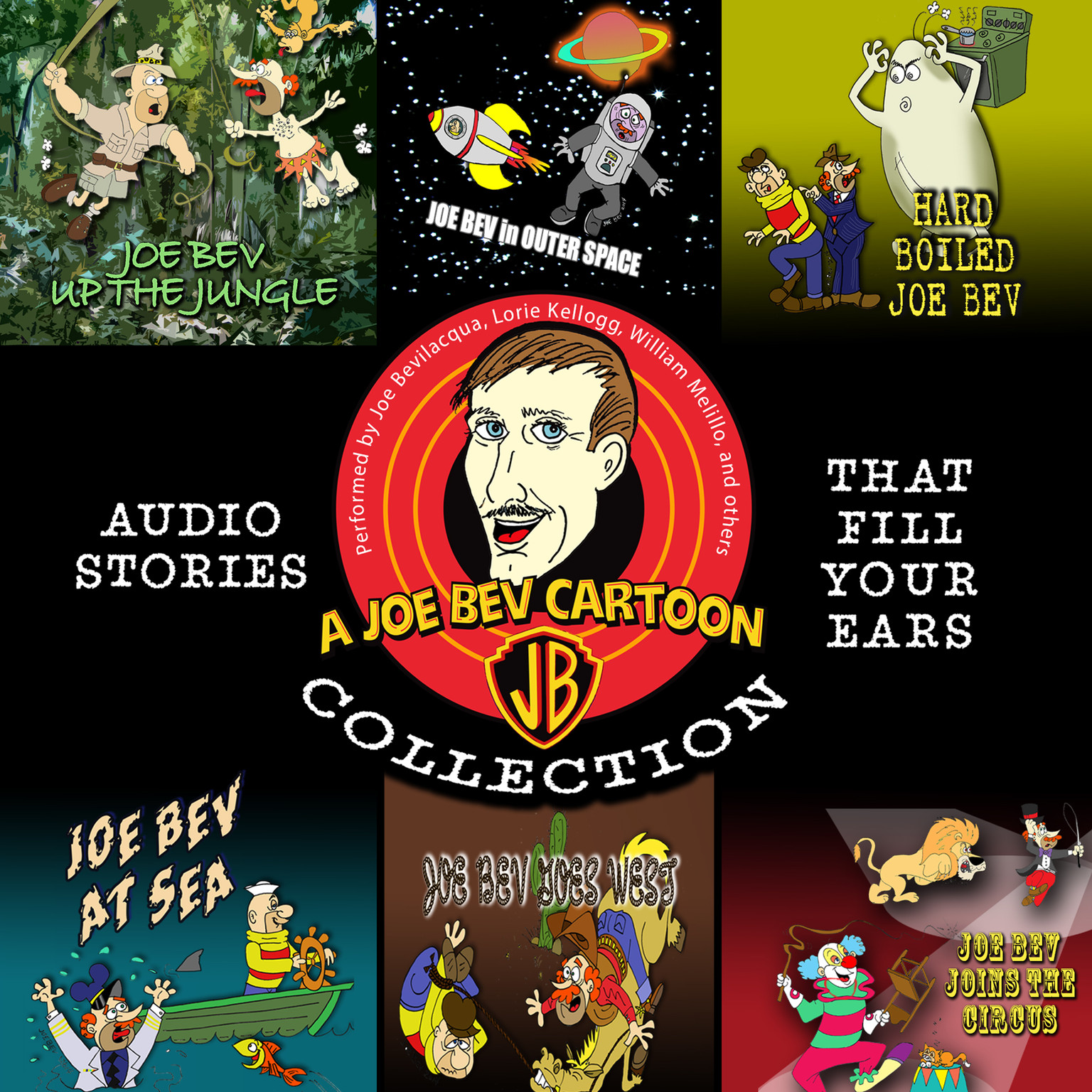 Printable A Joe Bev Cartoon Collection Audiobook Cover Art