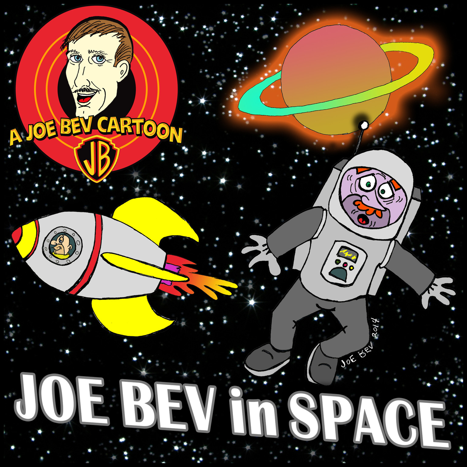 Printable Joe Bev in Outer Space: A Joe Bev Cartoon Collection, Volume 5 Audiobook Cover Art