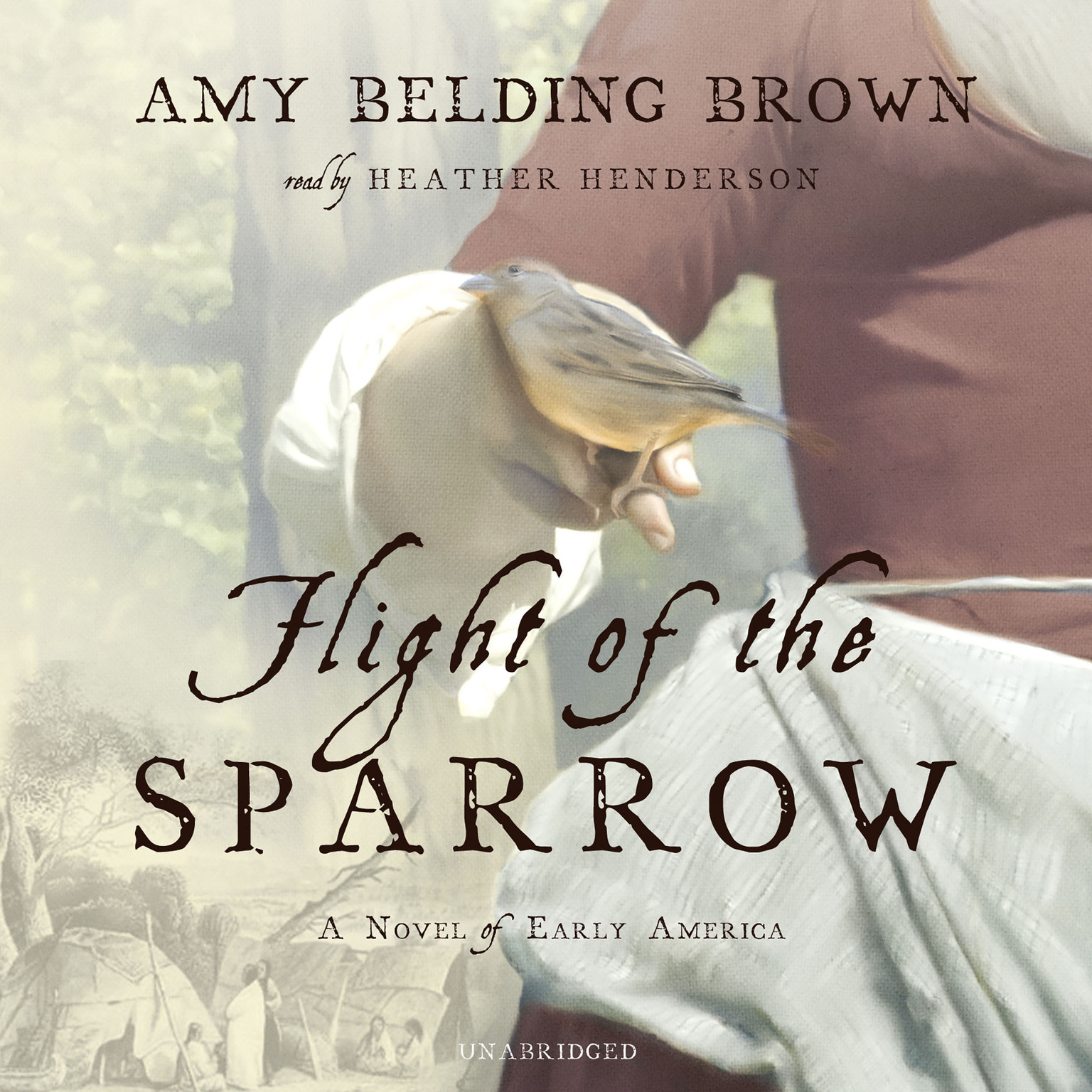 Printable Flight of the Sparrow: A Novel of Early America Audiobook Cover Art