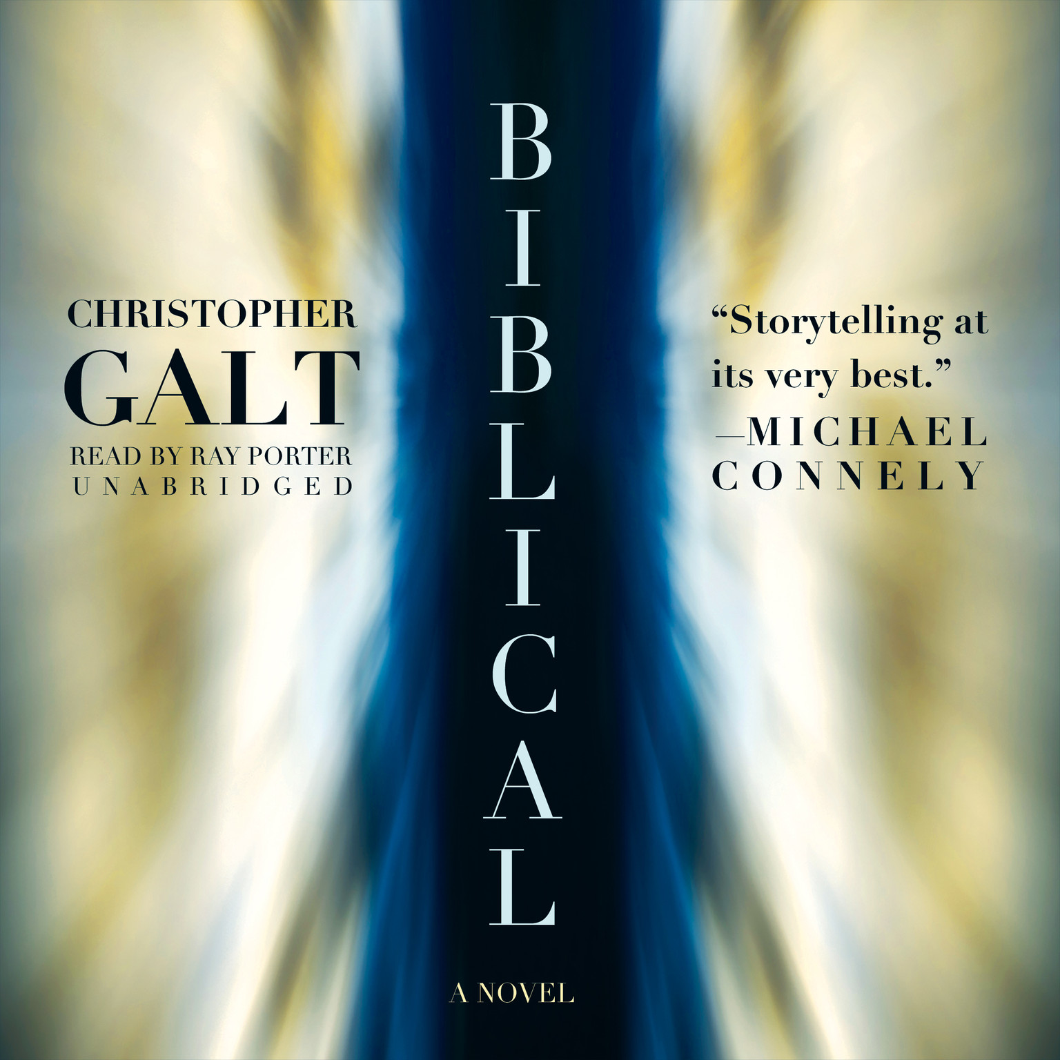 Printable Biblical: A Novel Audiobook Cover Art