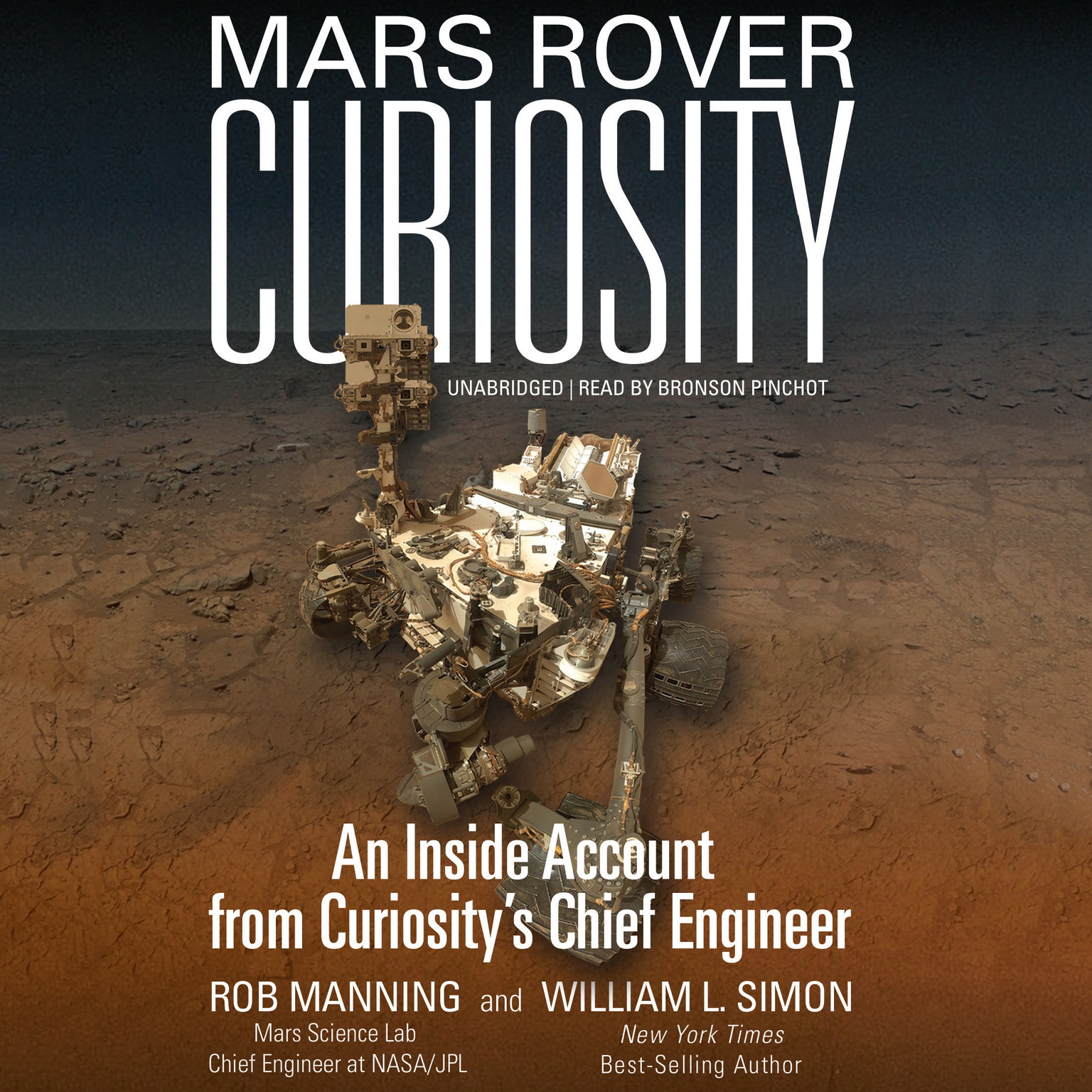 Printable Mars Rover Curiosity: An Inside Account from Curiosity's Chief Engineer Audiobook Cover Art