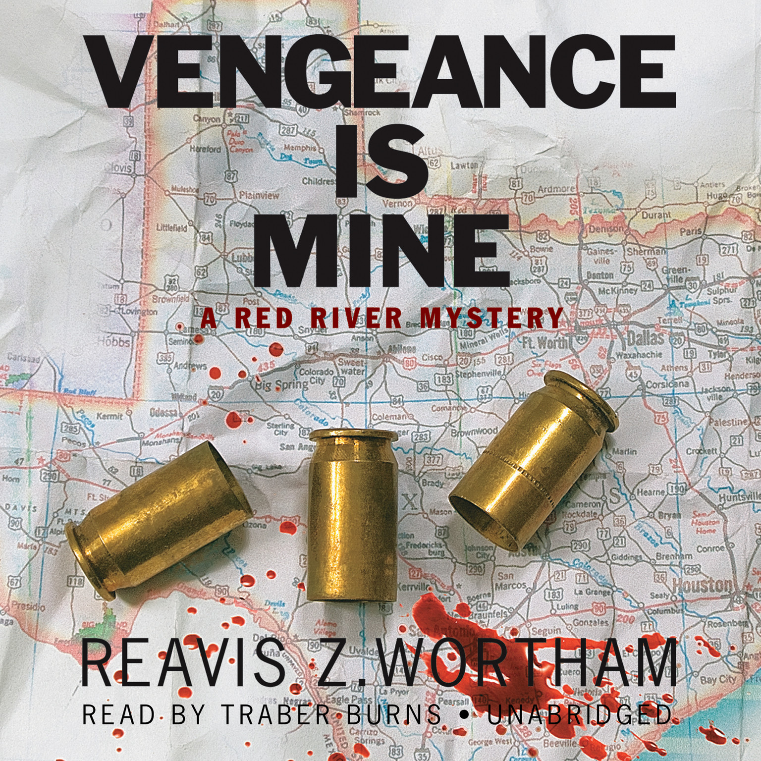 Printable Vengeance Is Mine: A Red River Mystery Audiobook Cover Art