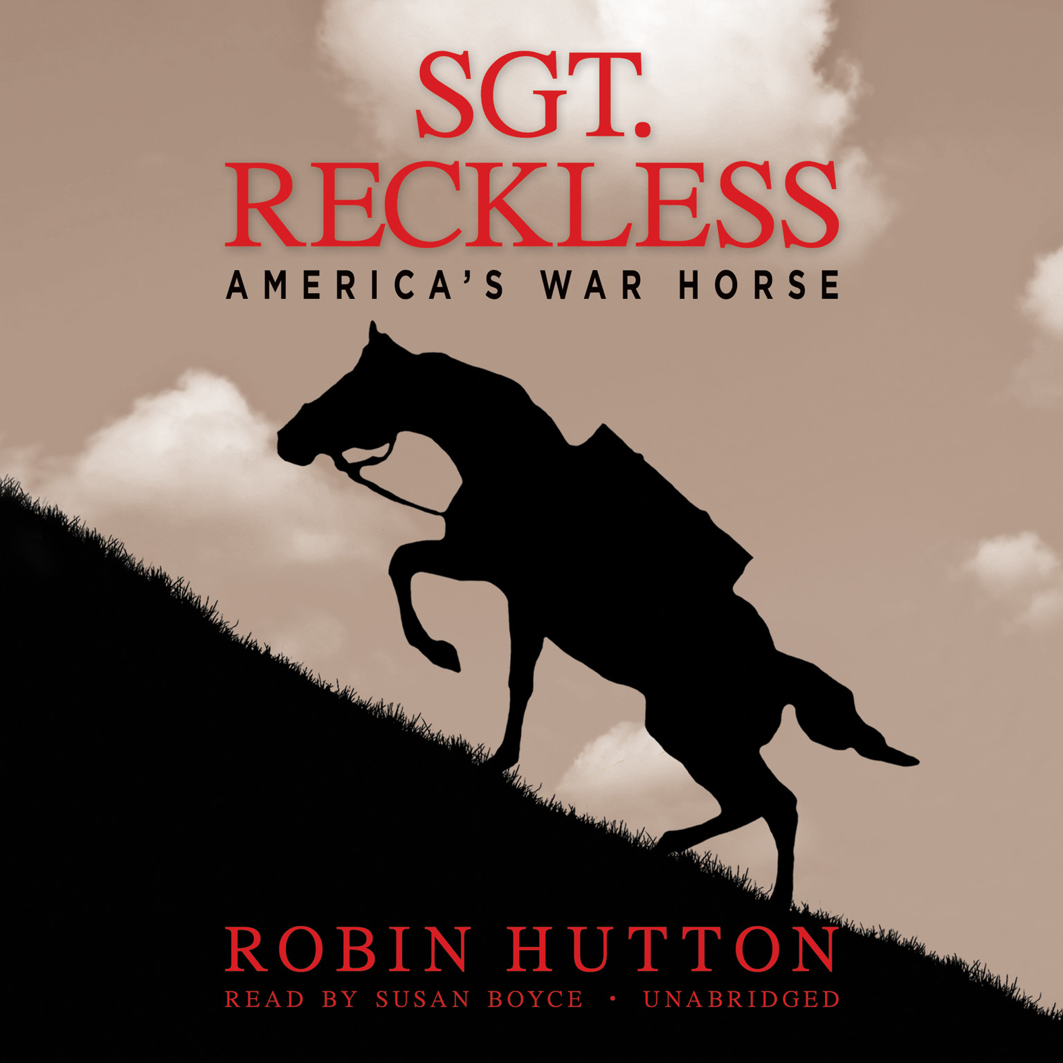 Printable Sgt. Reckless: America's War Horse Audiobook Cover Art