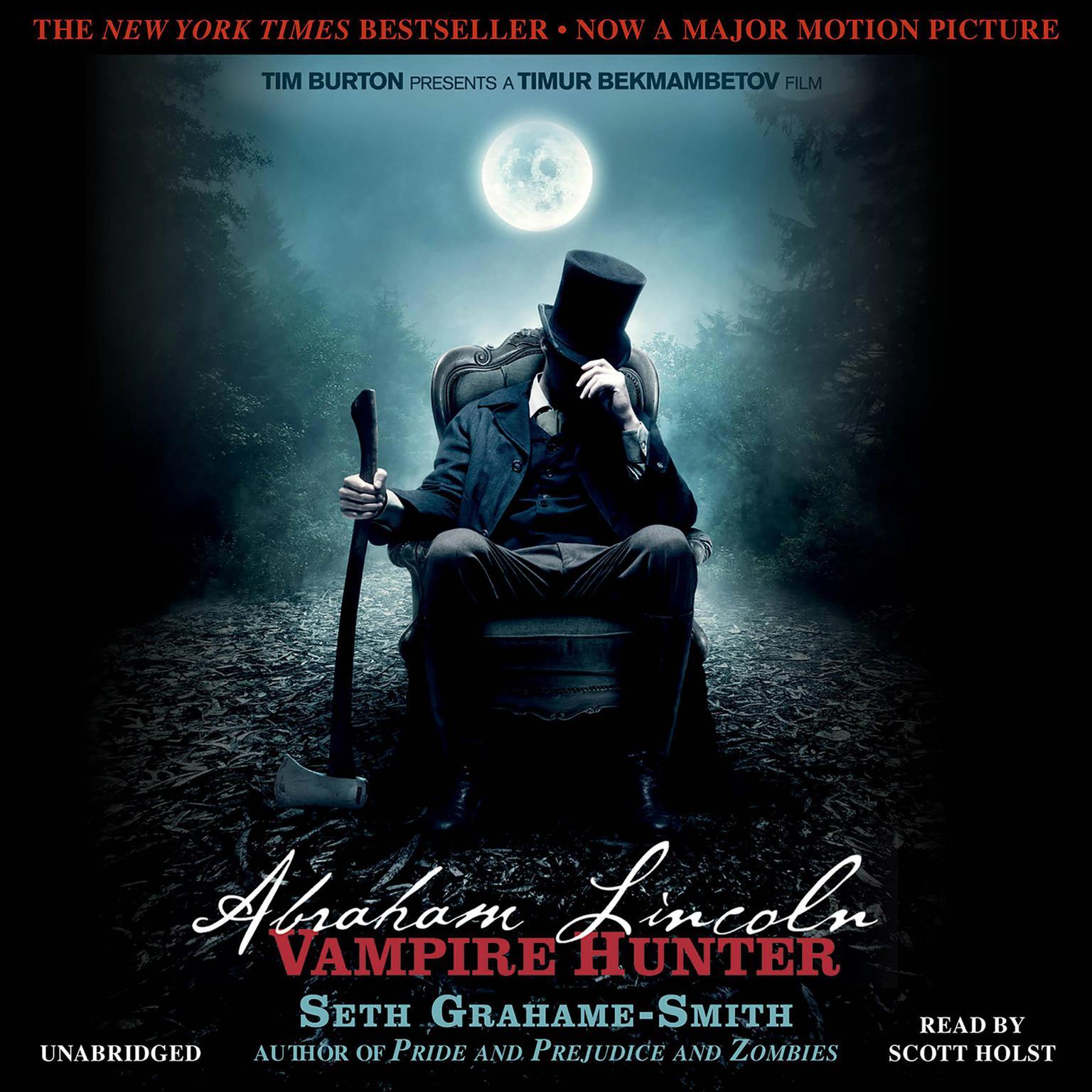 Printable Abraham Lincoln, Vampire Hunter Audiobook Cover Art