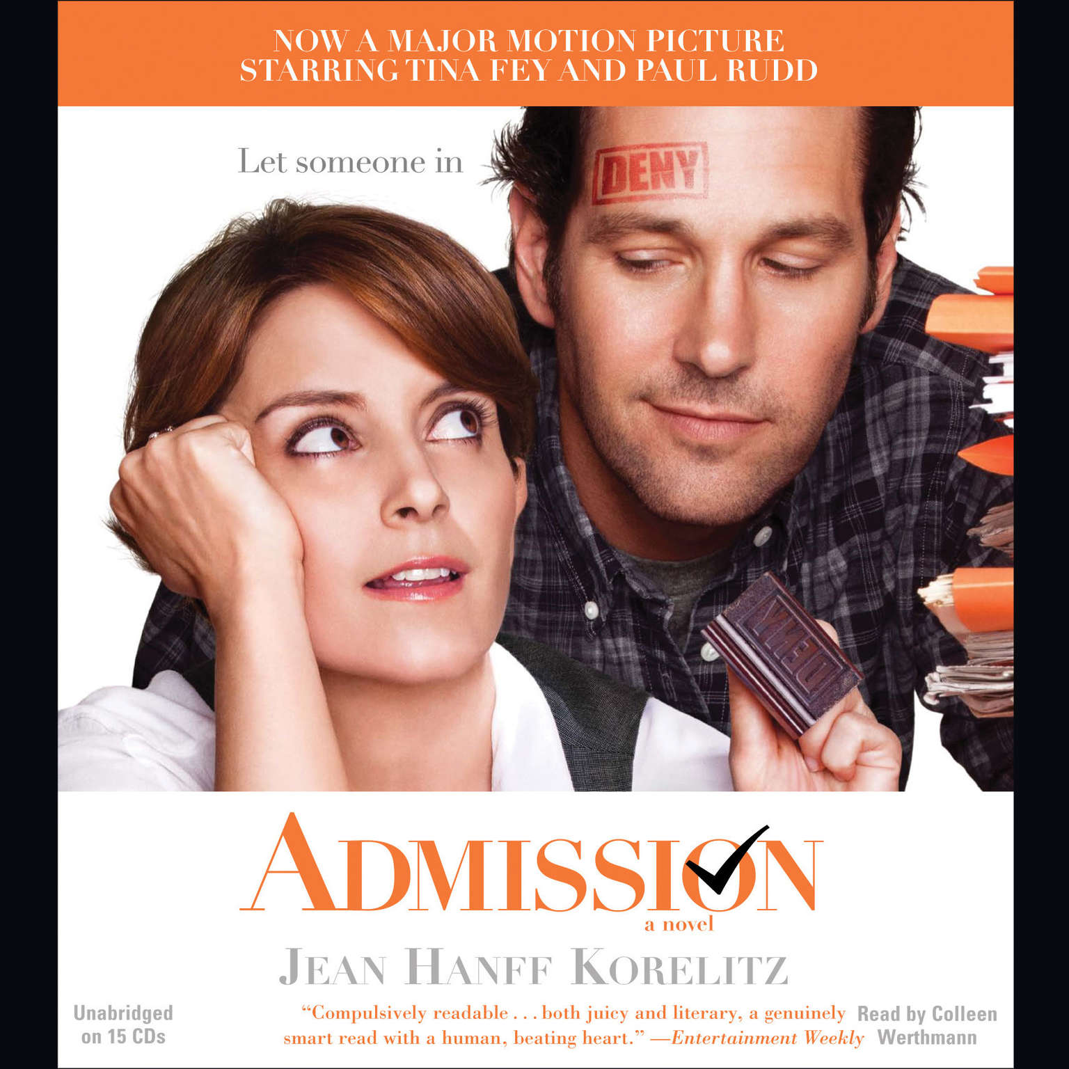Printable Admission Audiobook Cover Art