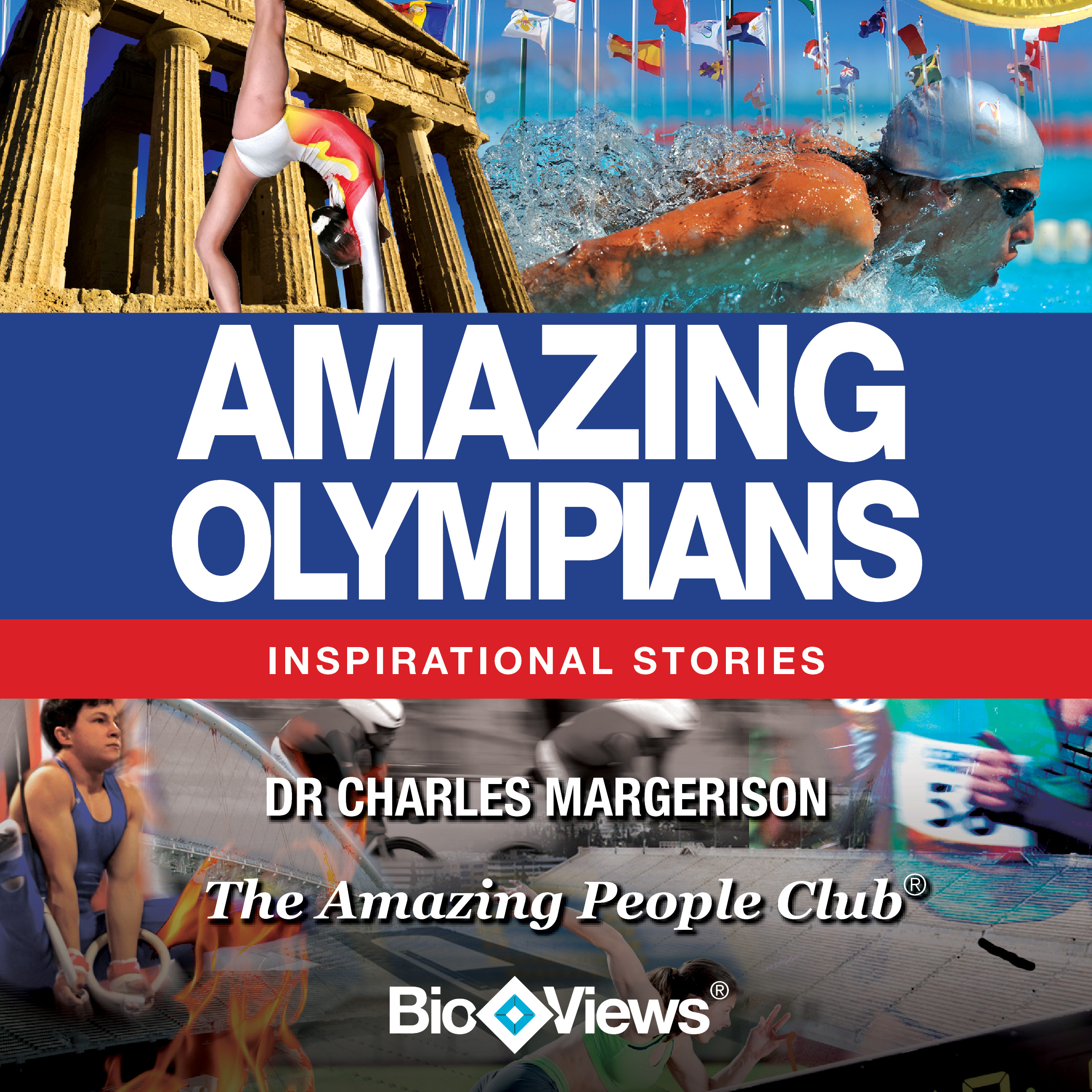 Printable Amazing Olympians: Inspirational Stories Audiobook Cover Art