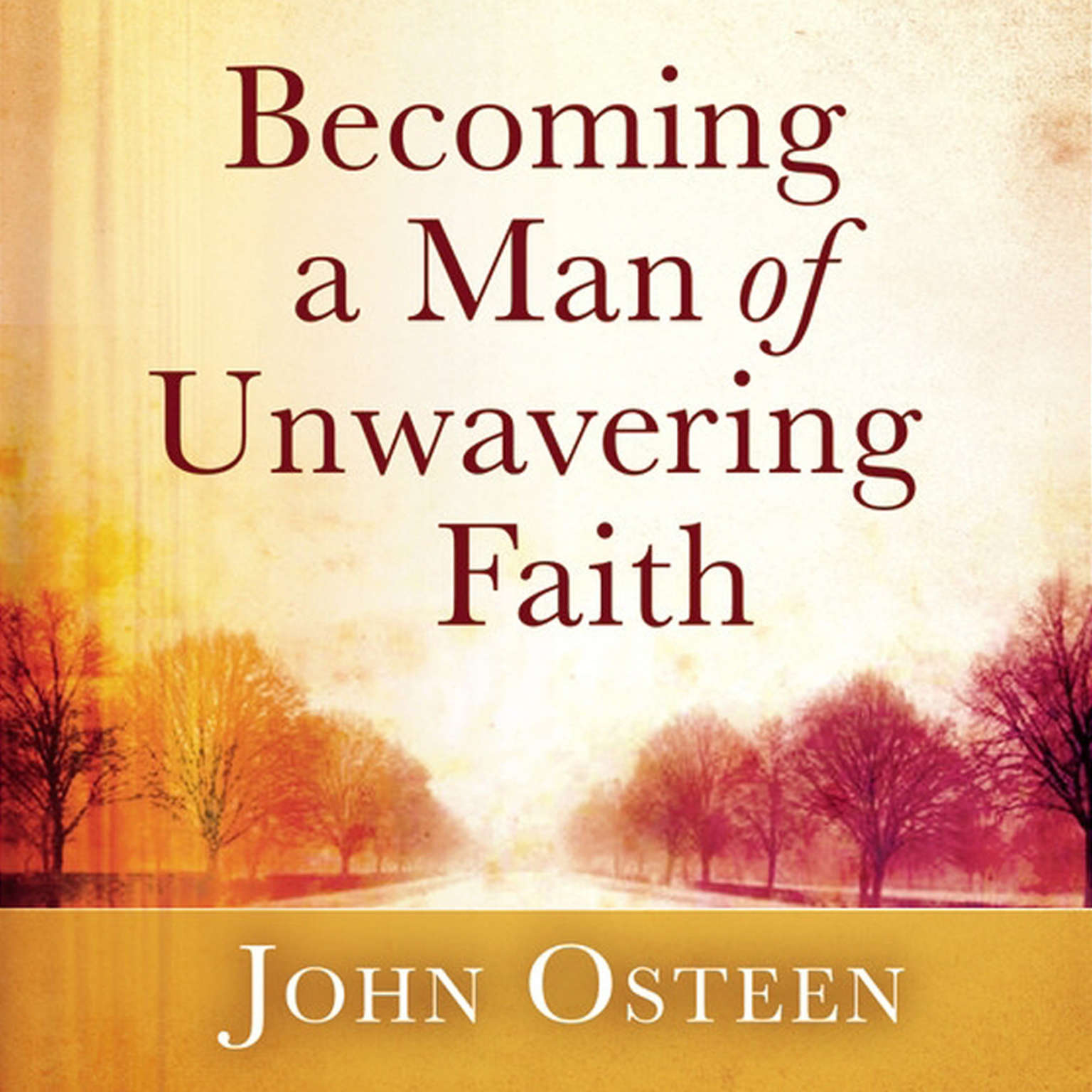 Printable Becoming a Man of Unwavering Faith Audiobook Cover Art