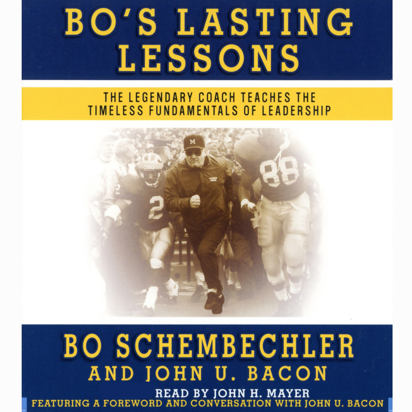 Printable Bo's Lasting Lessons: The Legendary Coach Teaches the Timeless Fundamentals of Leadership Audiobook Cover Art