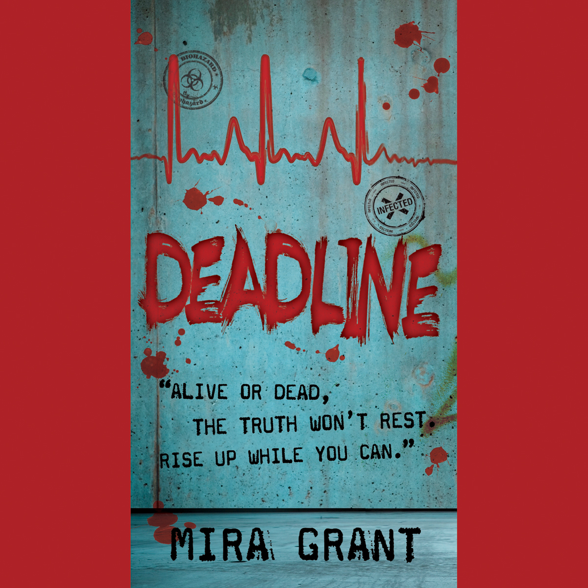 Printable Deadline Audiobook Cover Art