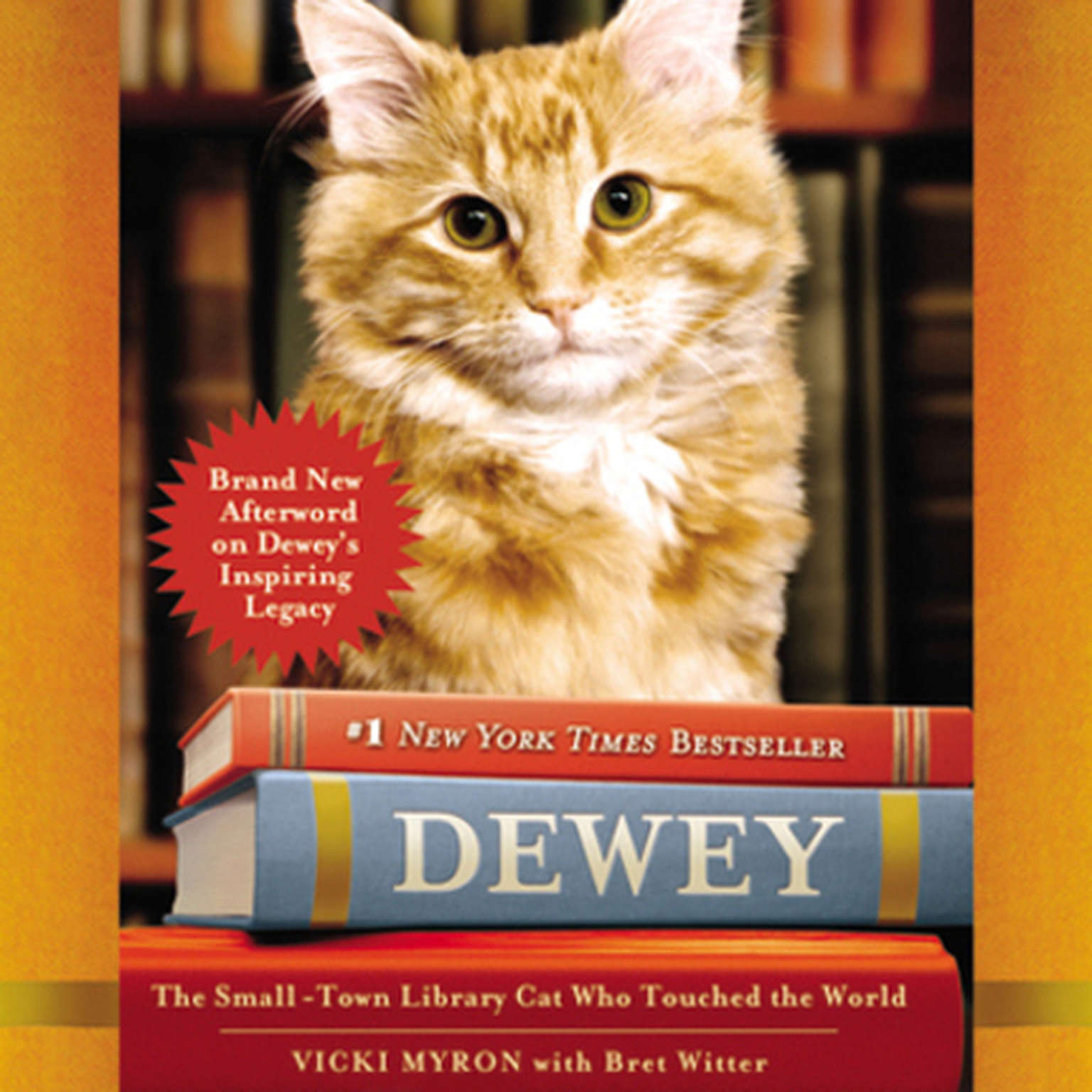 Printable Dewey: The Small-Town Library Cat Who Touched the World Audiobook Cover Art