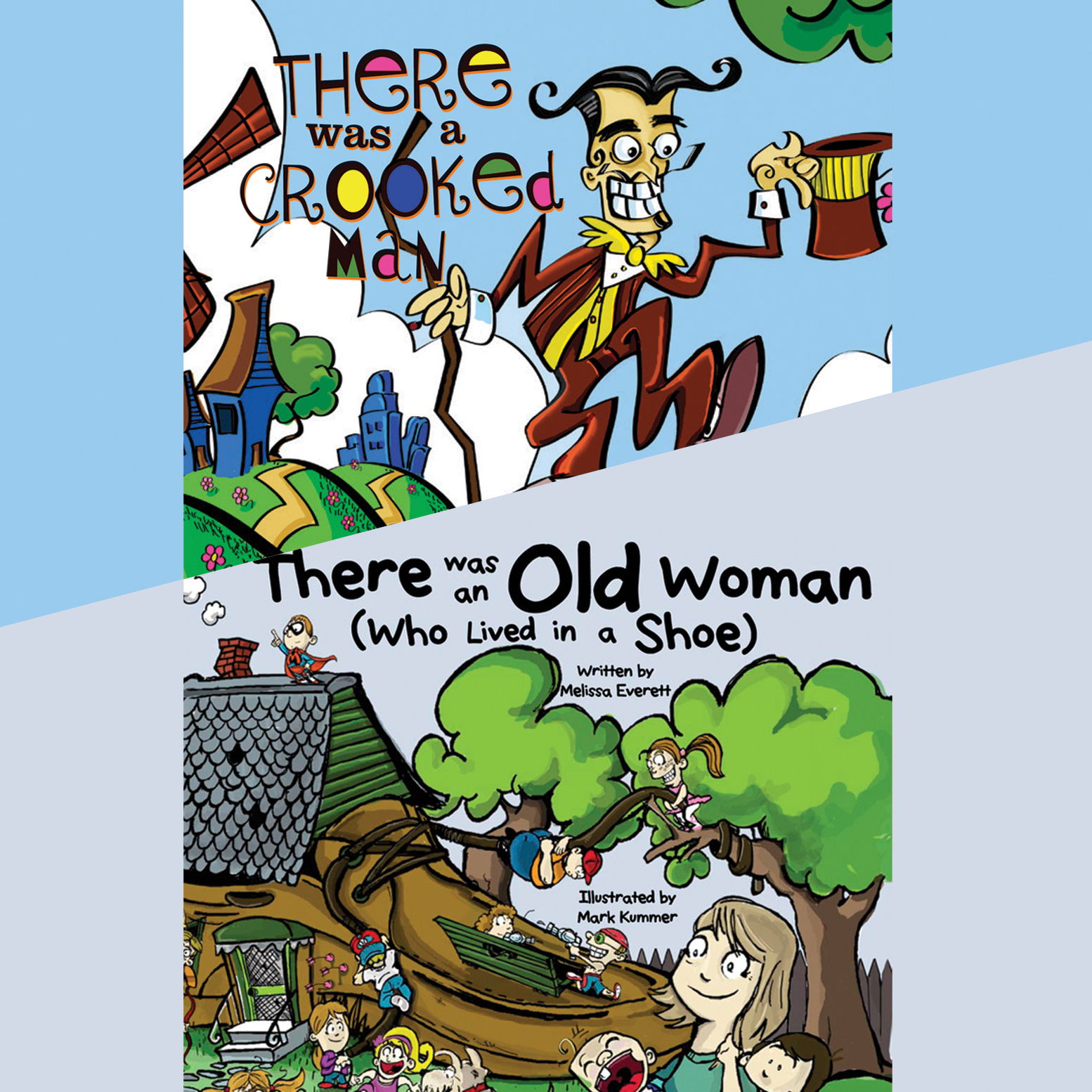 Printable There Was an Old Woman (Who Lived in a Shoe) & There Was a Crooked Man Audiobook Cover Art