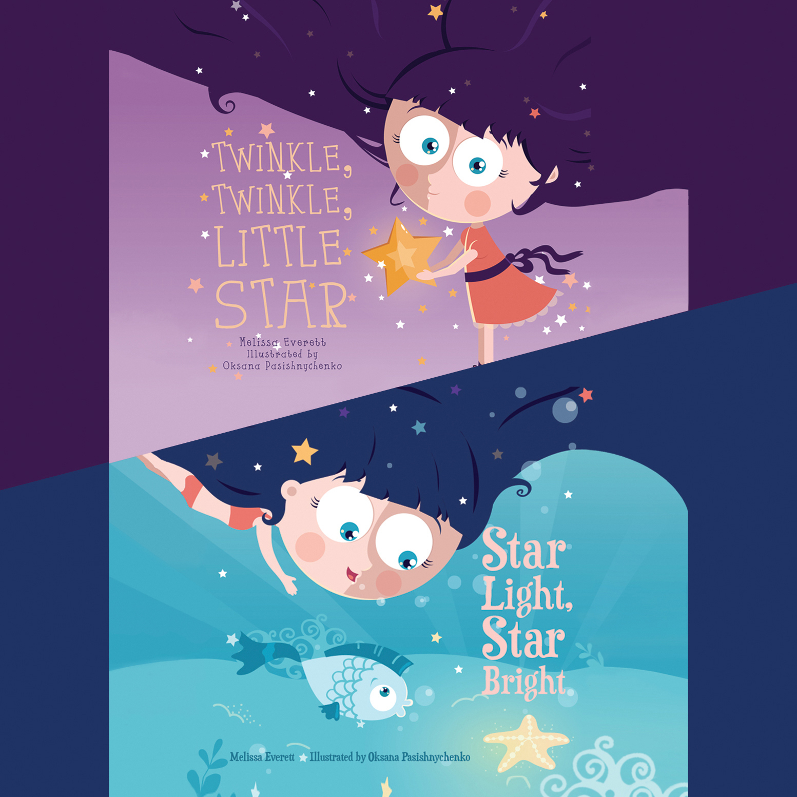 Printable Twinkle, Twinkle, Little Star & Star Light, Star Bright Audiobook Cover Art