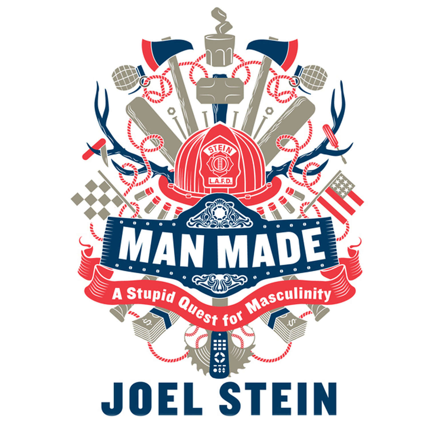 Printable Man Made: A Stupid Quest for Masculinity Audiobook Cover Art