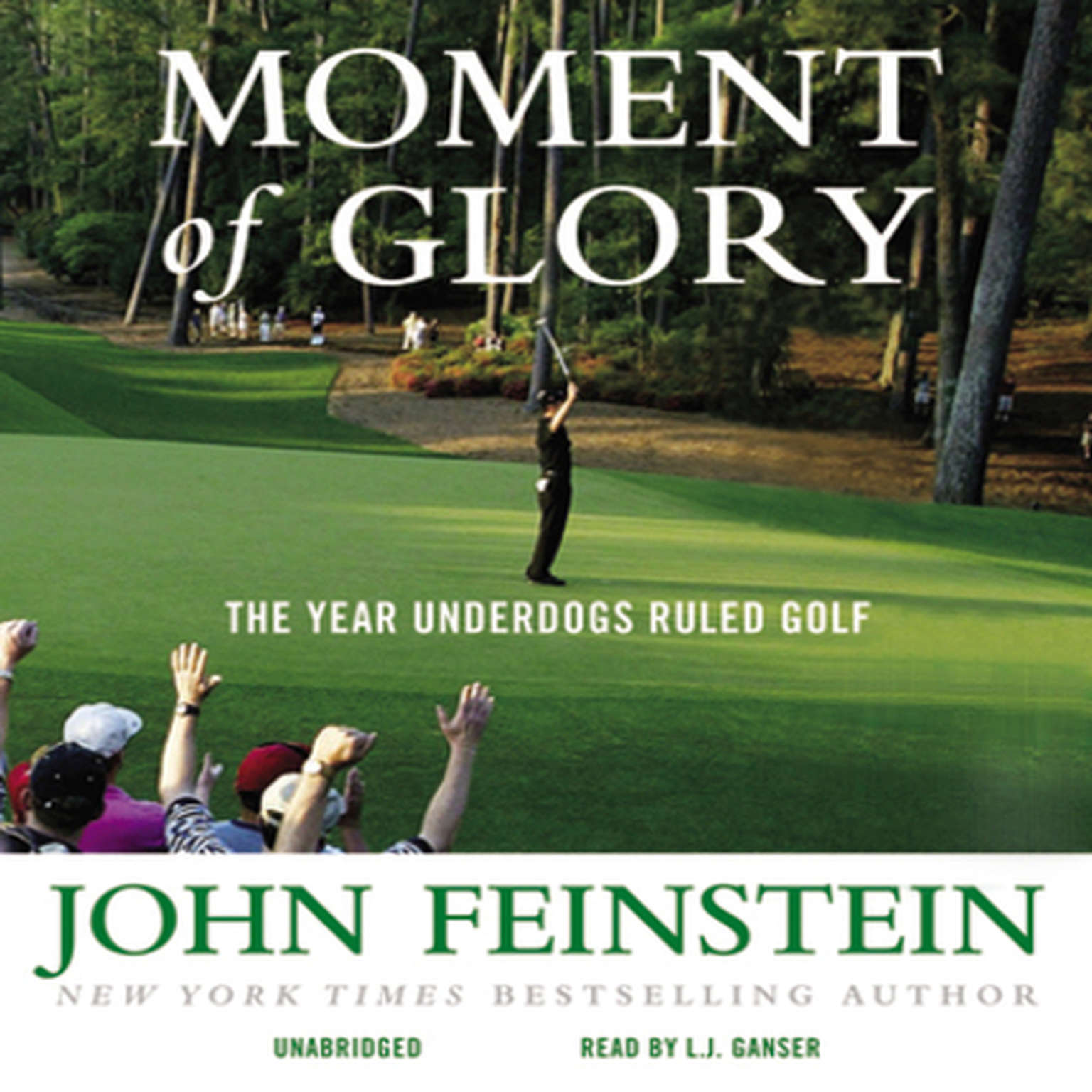 Printable Moment of Glory: The Year Underdogs Ruled Golf Audiobook Cover Art