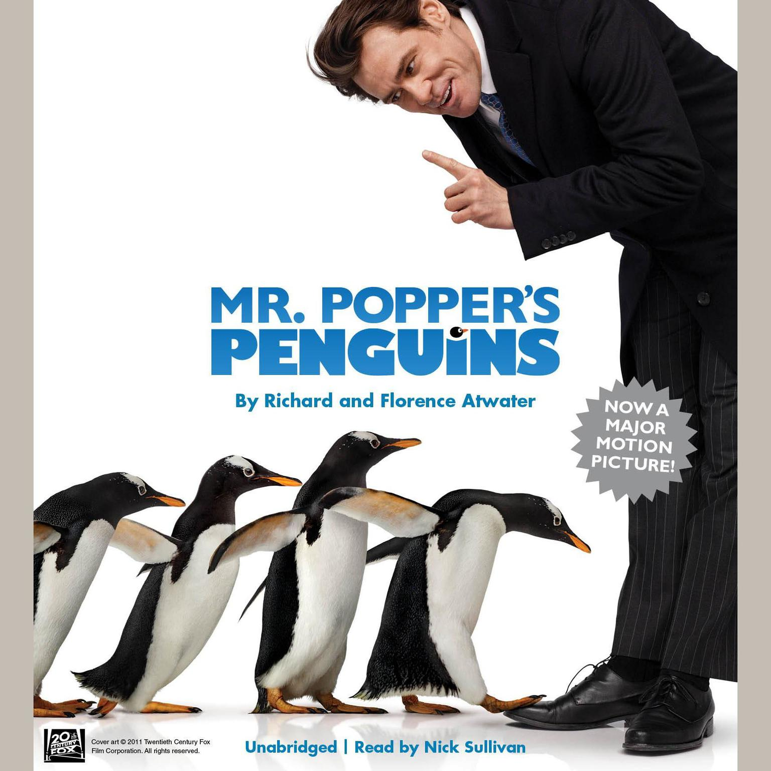 Printable Mr. Popper's Penguins Audiobook Cover Art