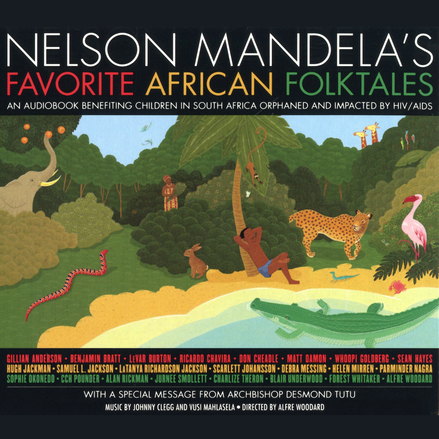 Printable Nelson Mandela's Favorite African Folktales Audiobook Cover Art