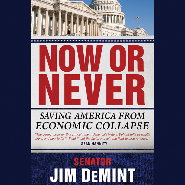 Printable Now or Never: Saving America from Economic Collapse Audiobook Cover Art