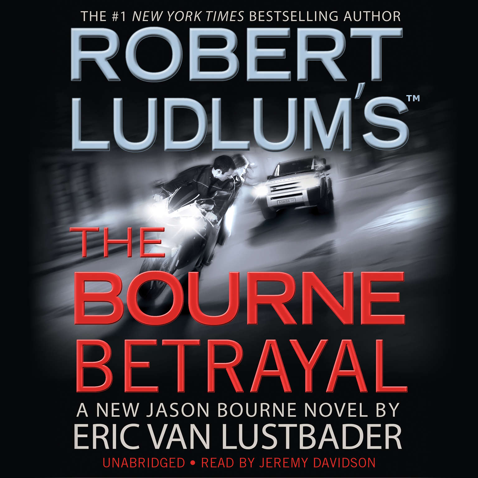 Printable Robert Ludlum's The Bourne Betrayal Audiobook Cover Art