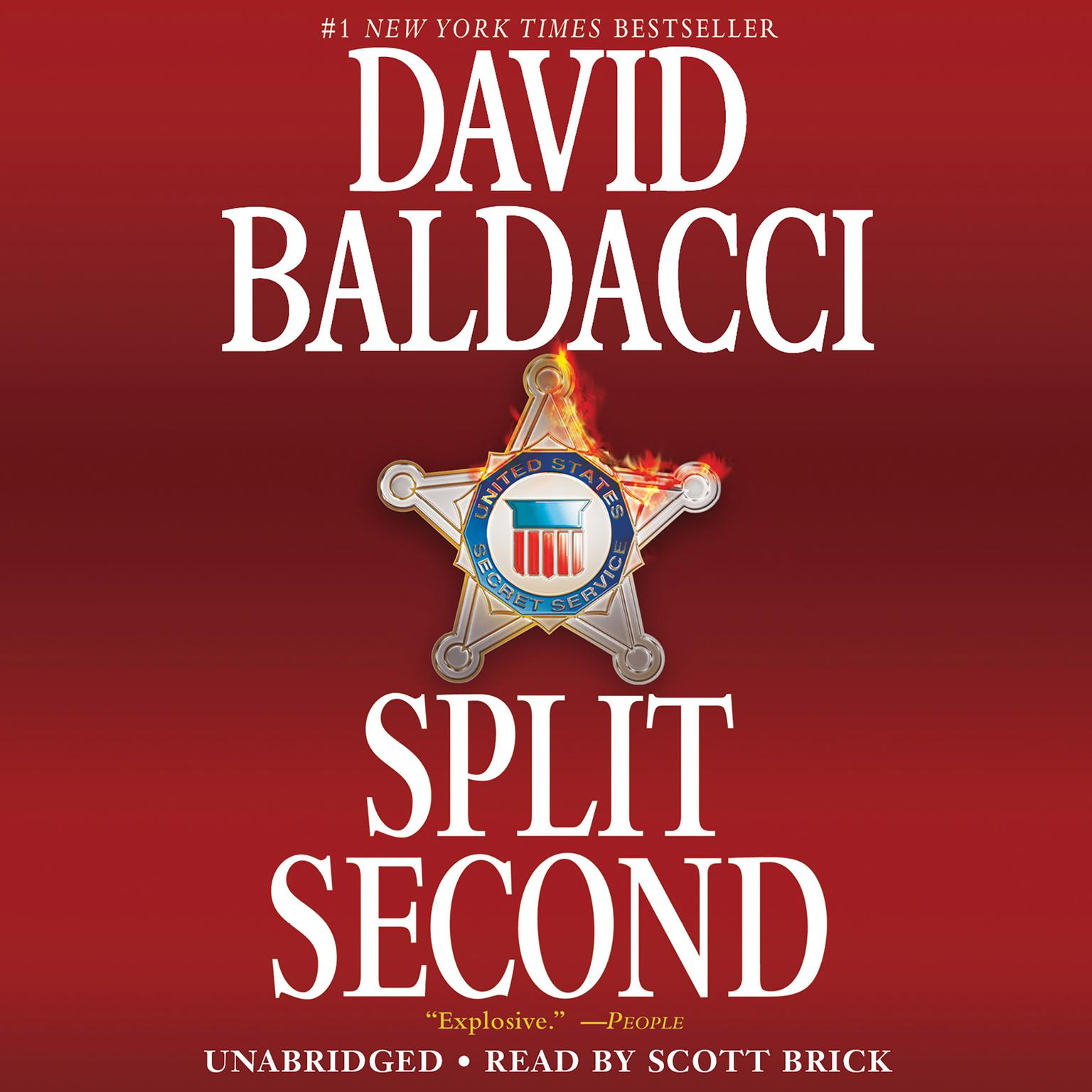 Printable Split Second Audiobook Cover Art