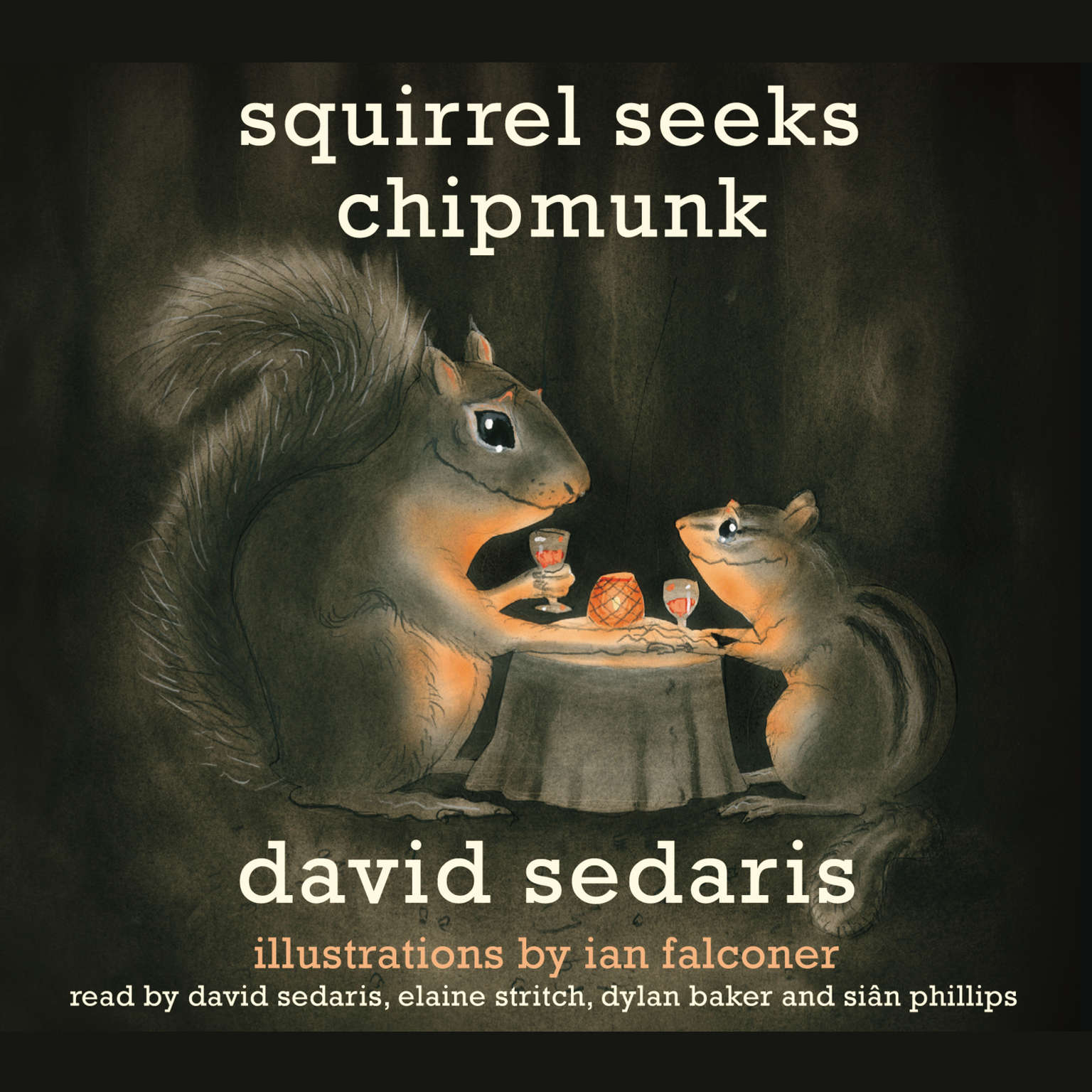 Printable Squirrel Seeks Chipmunk: A Modest Bestiary Audiobook Cover Art