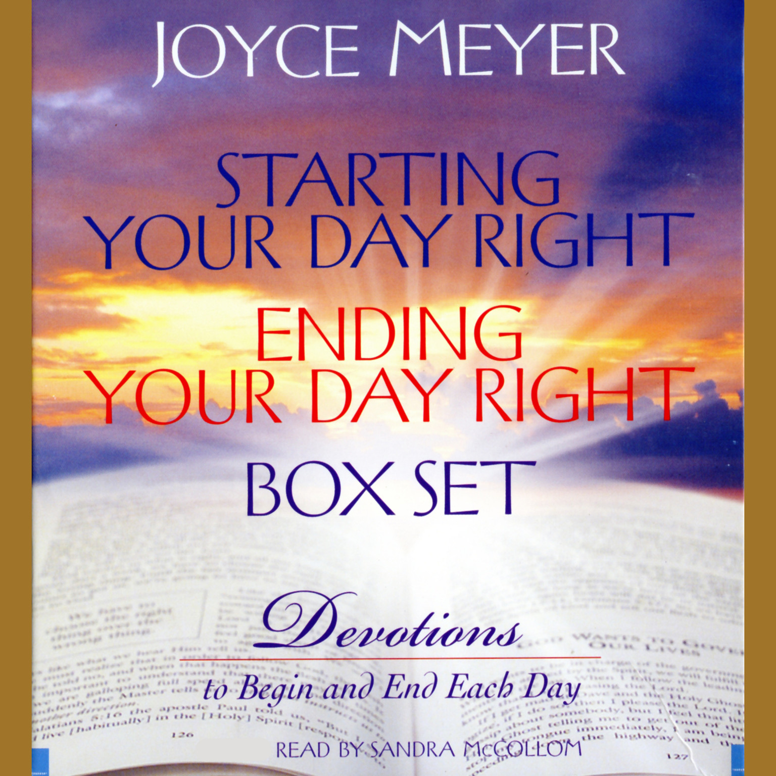 Printable Starting Your Day Right/Ending Your Day Right Box Set: Devotions to Begin and End Each Day Audiobook Cover Art