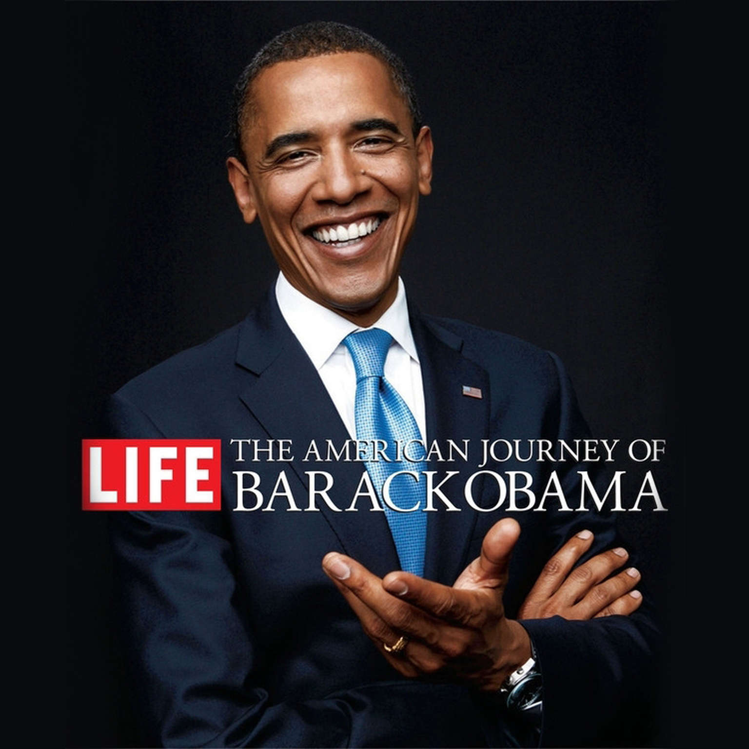 Printable The American Journey of Barack Obama Audiobook Cover Art