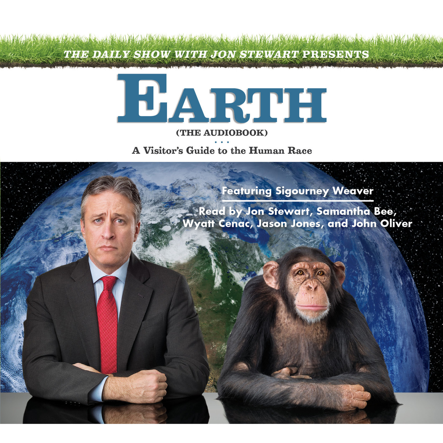Printable The Daily Show with Jon Stewart Presents Earth (The Audiobook): A Visitor's Guide to the Human Race Audiobook Cover Art