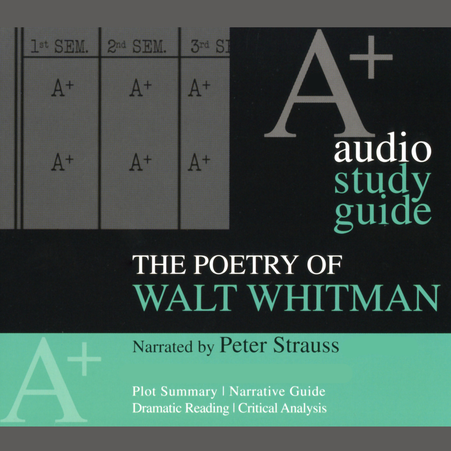 Printable The Poetry of Walt Whitman: An A+ Audio Study Guide Audiobook Cover Art