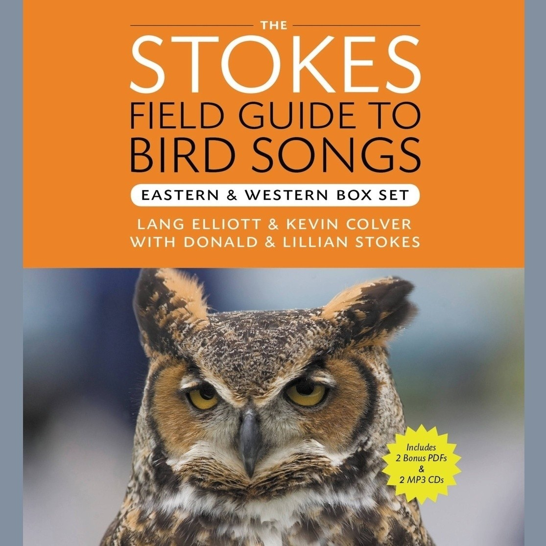 Printable The Stokes Field Guide to Bird Songs: Eastern and Western Box Set Audiobook Cover Art