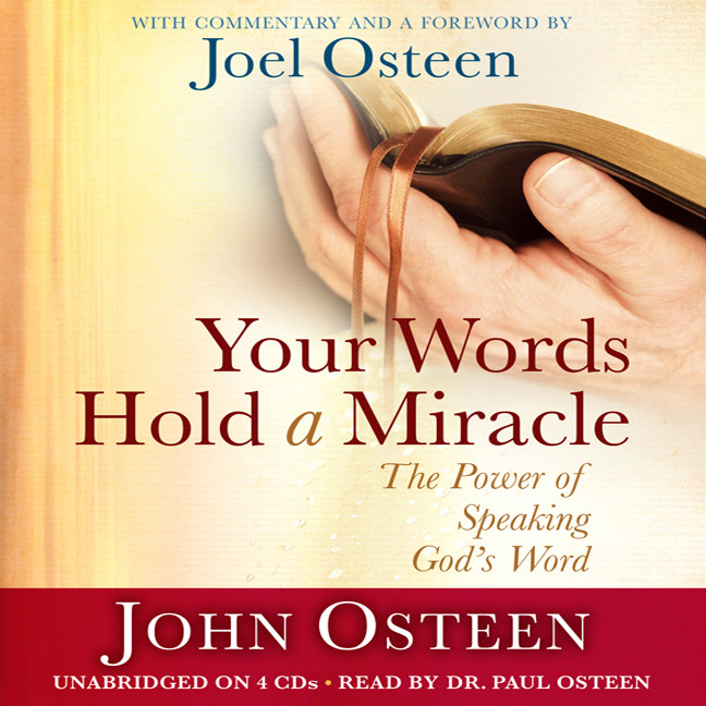 Printable Your Words Hold a Miracle: The Power of Speaking God's Word Audiobook Cover Art