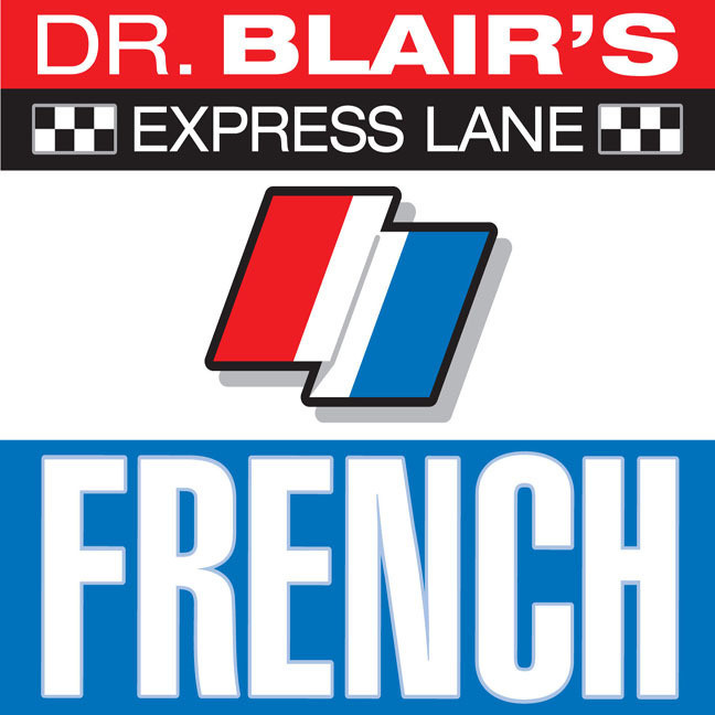 Printable Dr. Blair's Express Lane: French: French Audiobook Cover Art