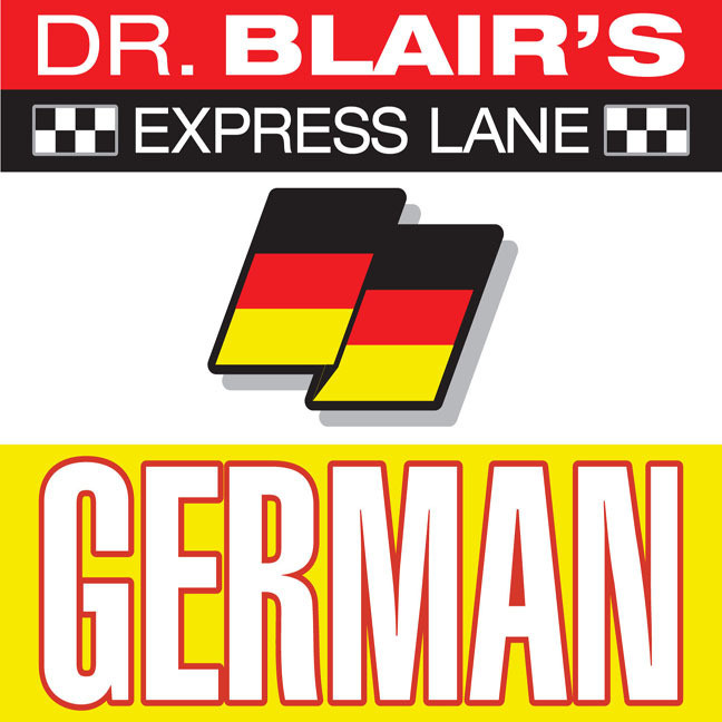 Printable Dr. Blair's Express Lane: German: German Audiobook Cover Art
