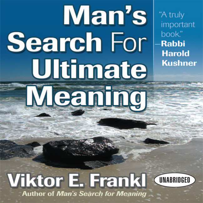Printable Man's Search for Ultimate Meaning Audiobook Cover Art