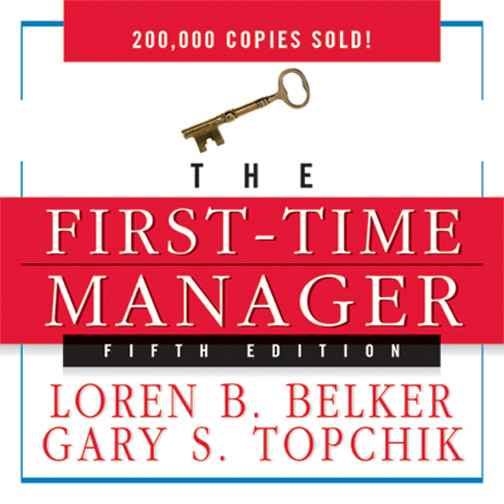 Printable The First-Time Manager Audiobook Cover Art