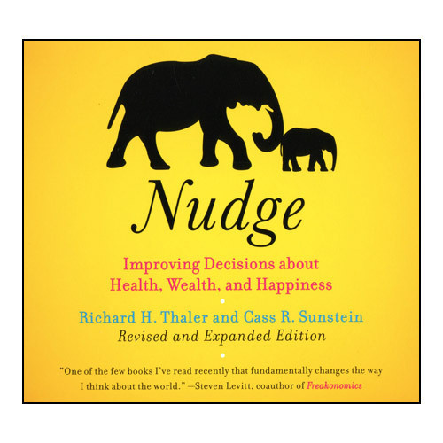 Printable Nudge: Improving Decisions About Health, Wealth, and Happiness Audiobook Cover Art