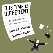 This Time is Different: Eight Centuries of Financial Folly Audiobook, by Carmen  M. Reinhart, Carmen Reinhart, Kenneth Rogoff