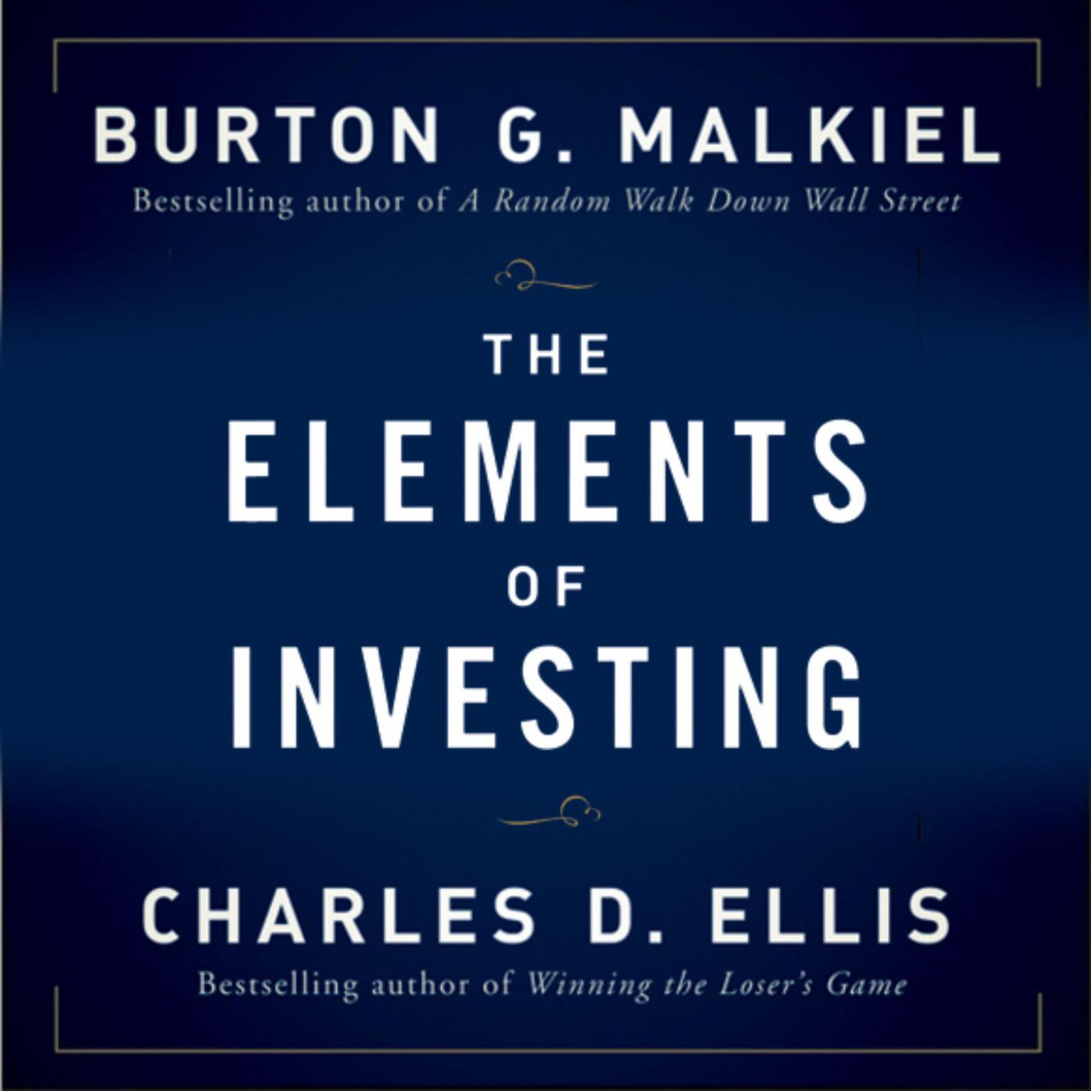 Printable The Elements of Investing Audiobook Cover Art