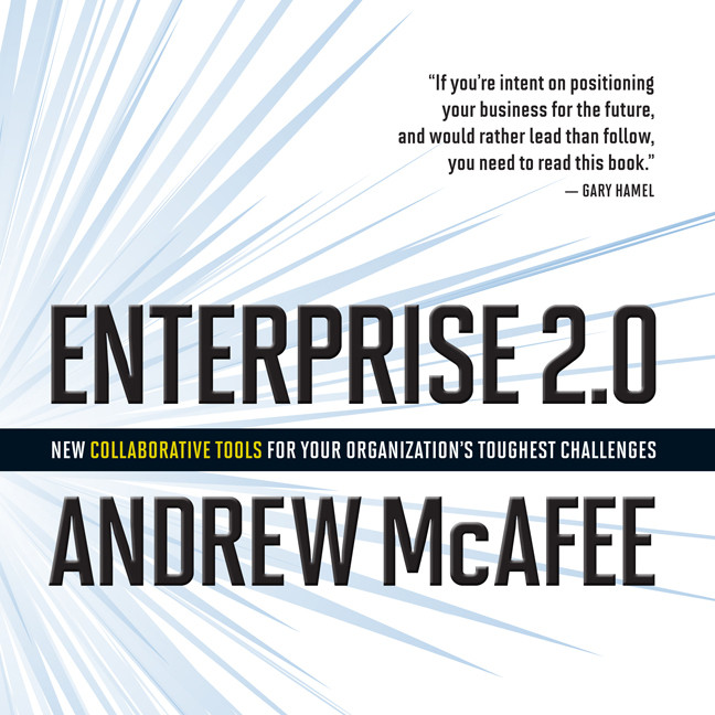Printable Enterprise 2.0: New Collaborative Tools for Your Organization's Toughest Challenges Audiobook Cover Art