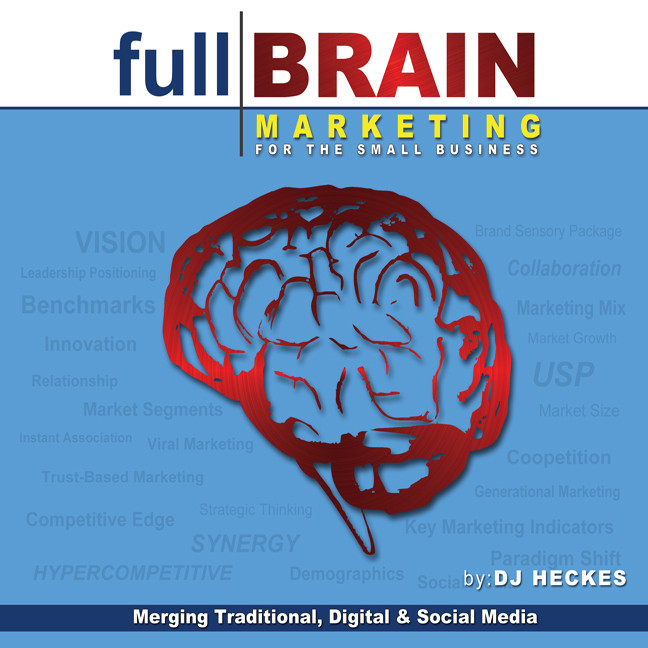 Printable Full Brain Marketing for the Small Business: Merging Traditional, Digital & Social Media Audiobook Cover Art