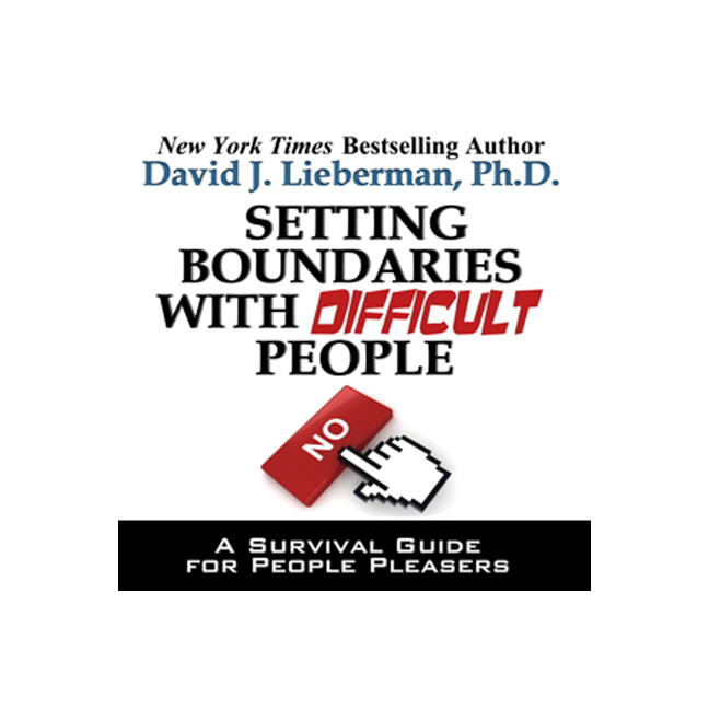 Printable Setting Boundaries with Difficult People: A Survival Guide for People Pleasers Audiobook Cover Art